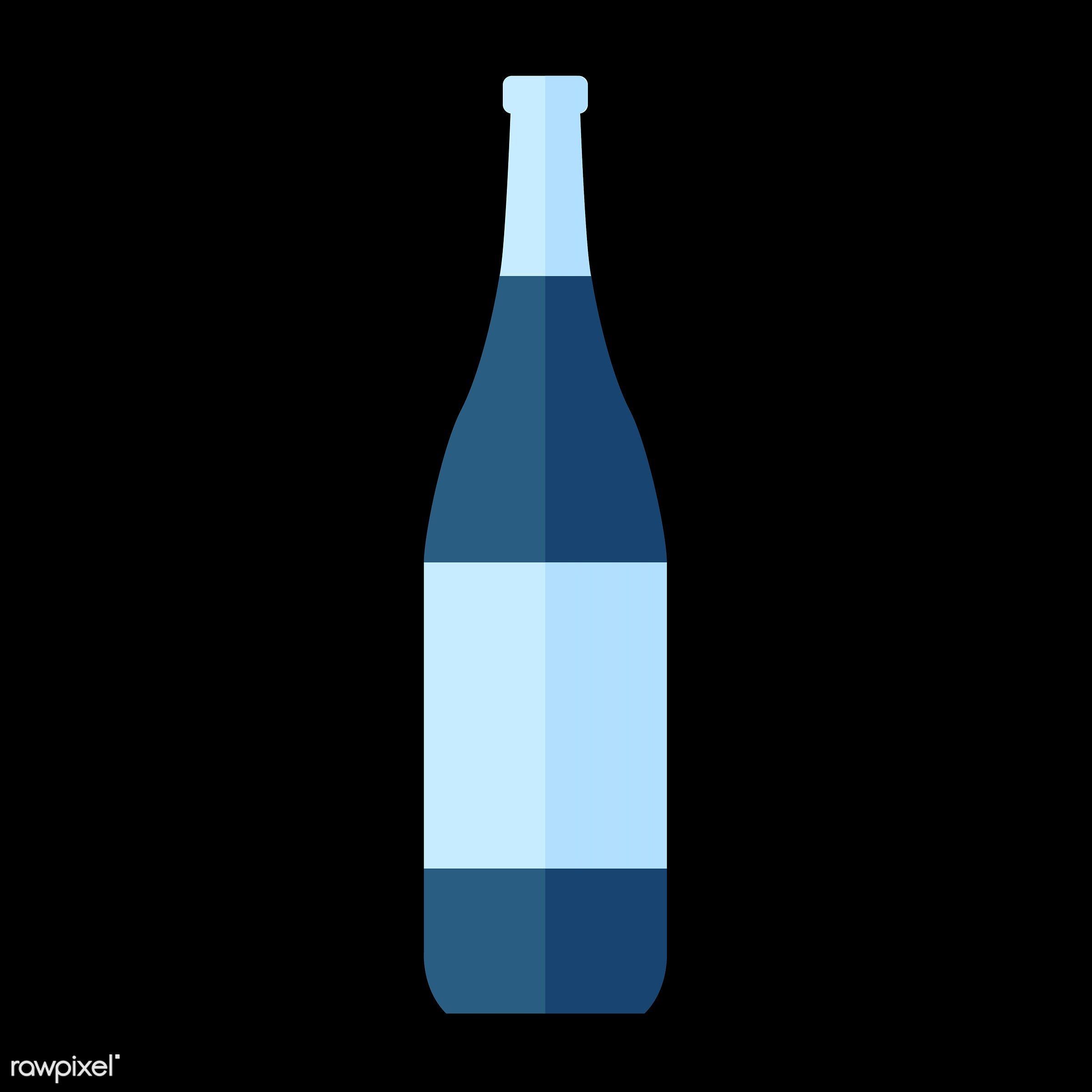 Wine bottle vector - vector, graphic, illustration, icon, symbol, colorful, cute, drink, beverage, water, wine, wine bottle...
