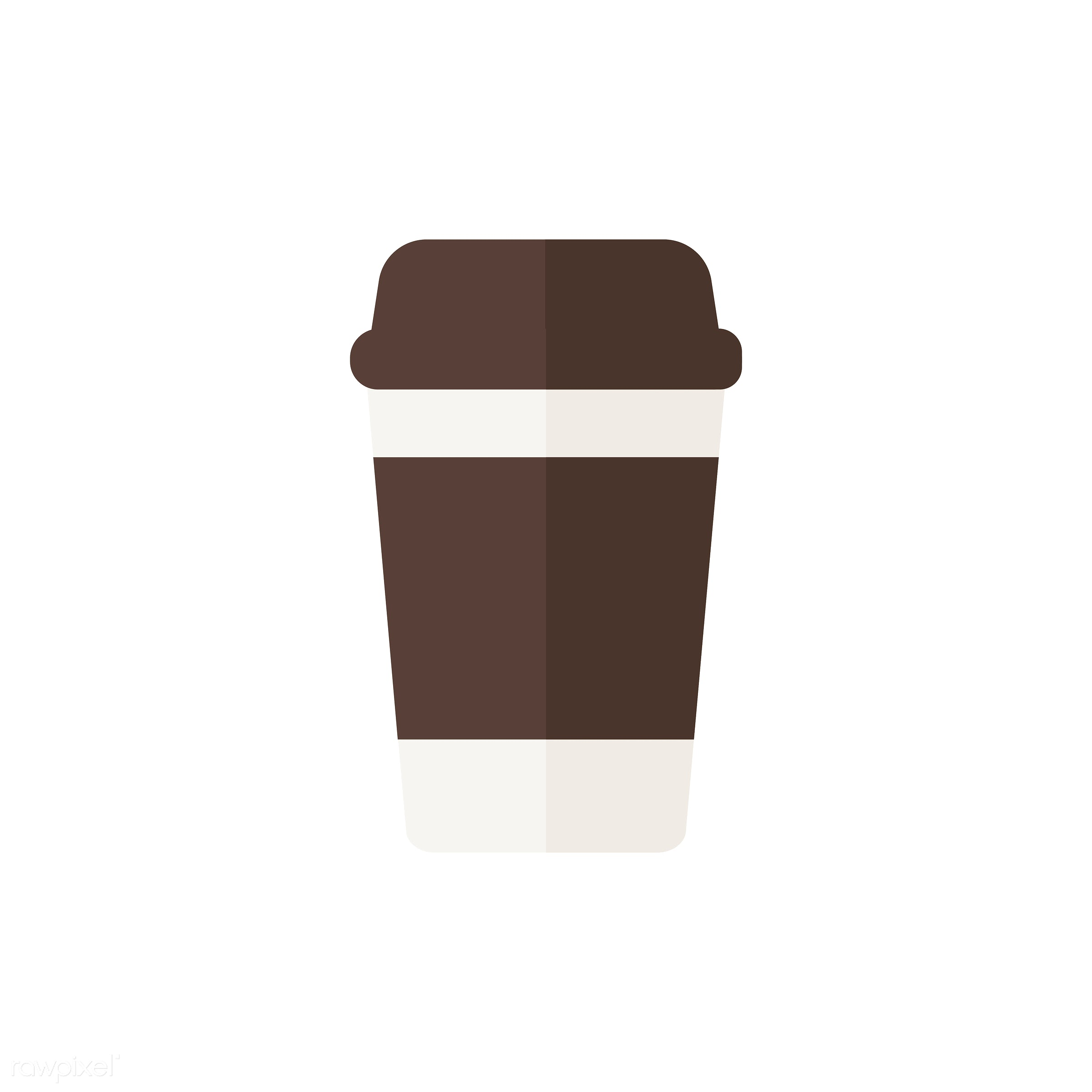 A takeaway glass of coffee vector - vector, graphic, illustration, icon, symbol, colorful, cute, drink, beverage, water,...