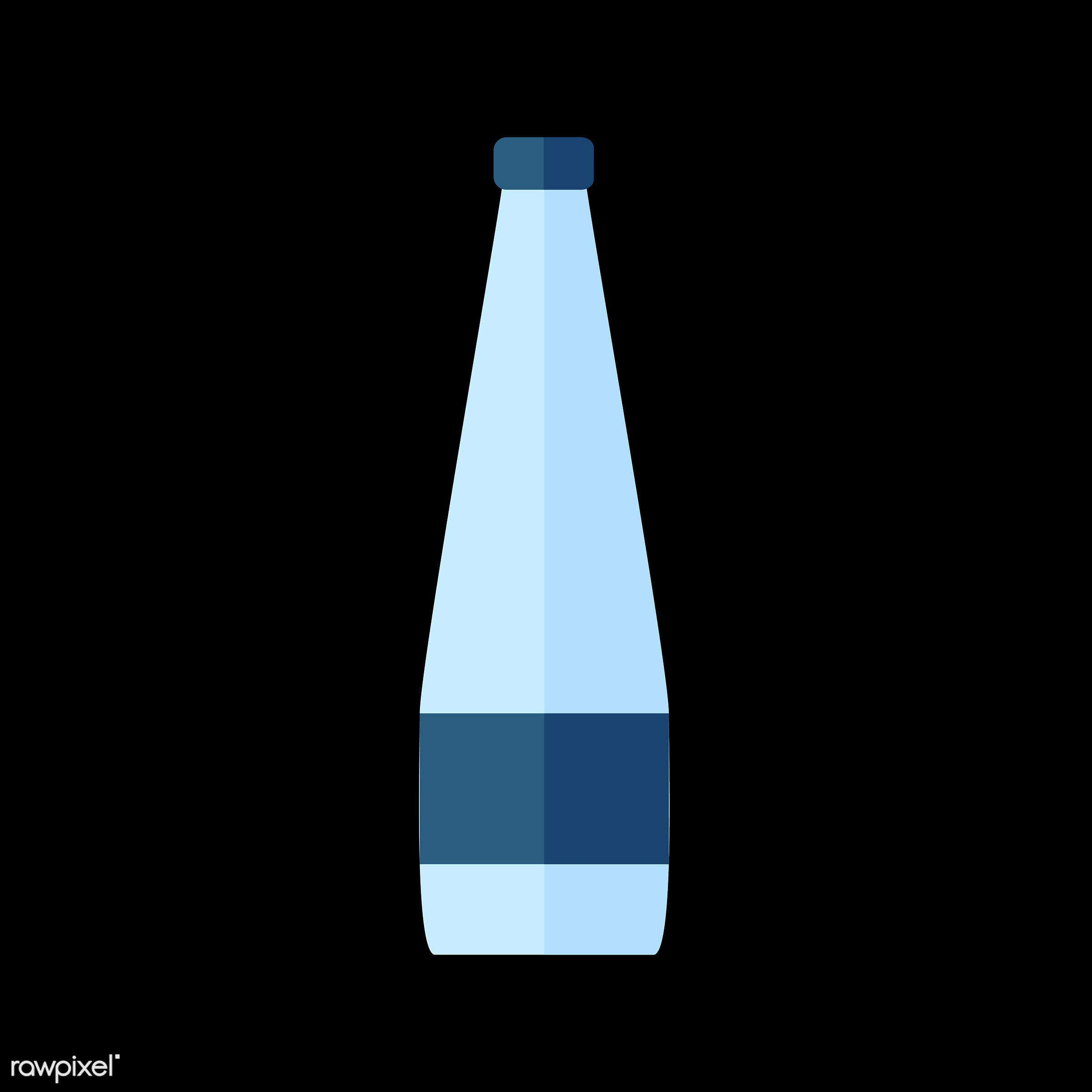 vector, graphic, illustration, icon, symbol, colorful, cute, drink, beverage, water, blue, water bottle, plastic bottle
