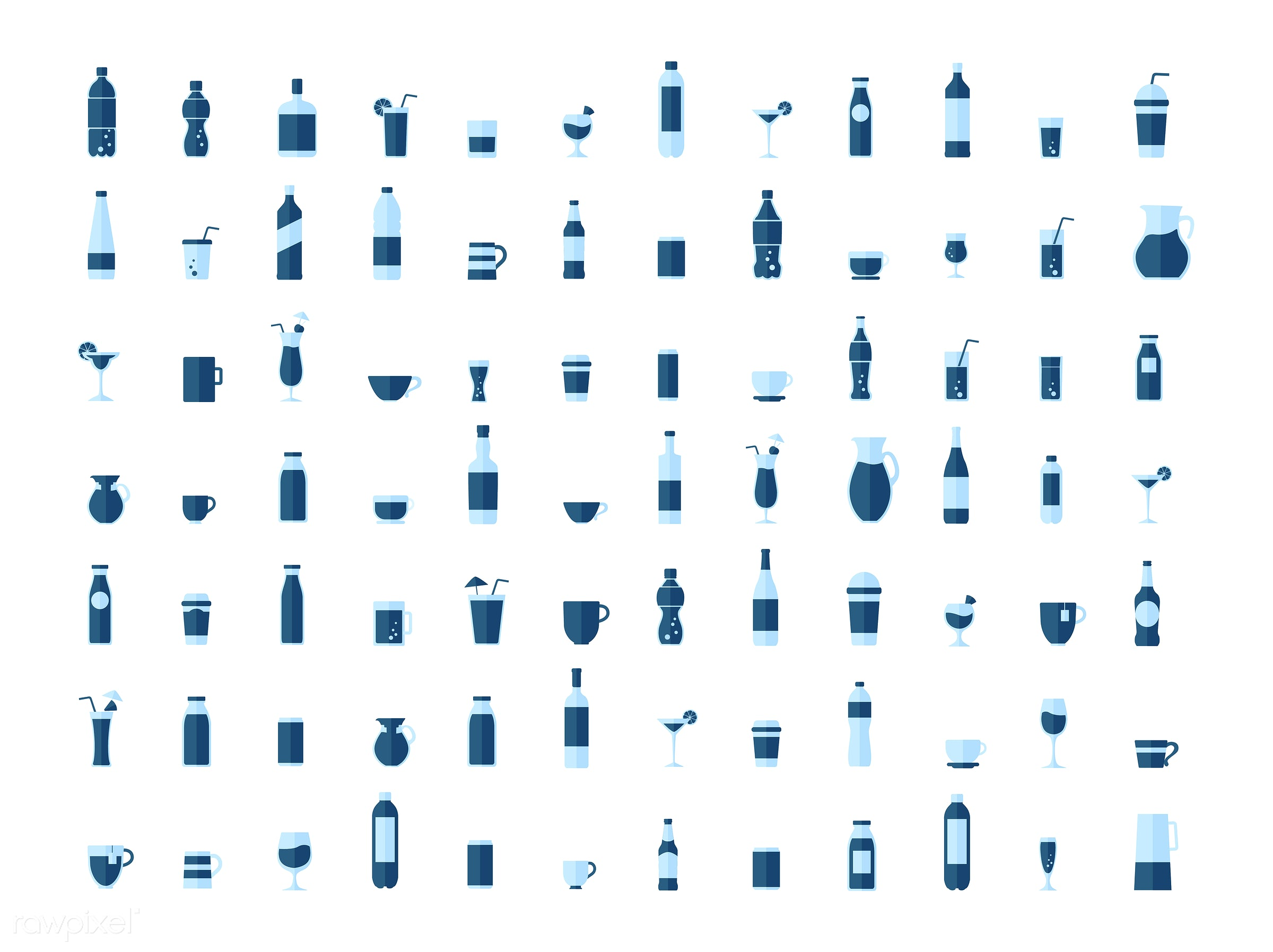 Collection of beverage vectors - vector, graphic, illustration, icon, symbol, collection, set, colorful, cute, beverage,...