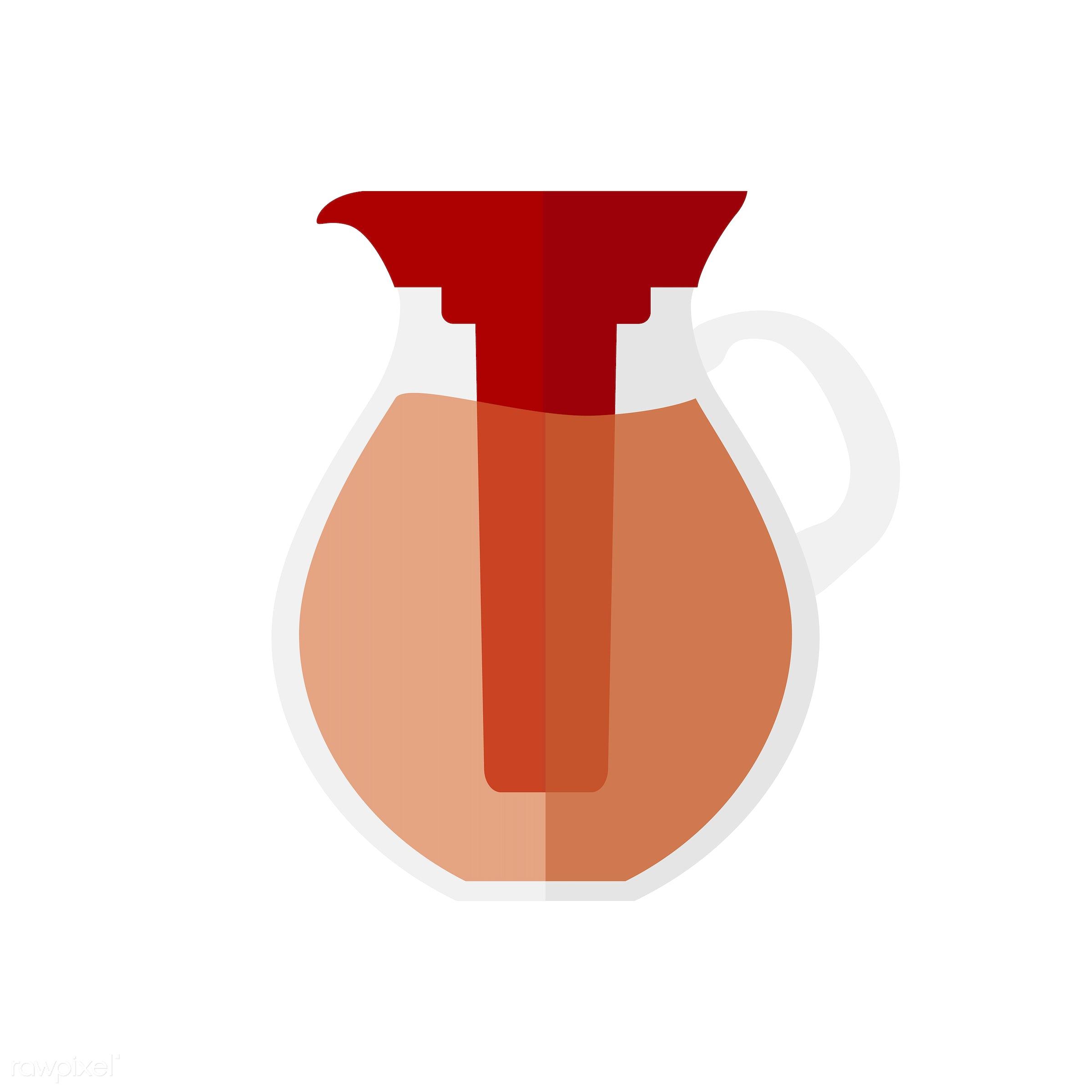 vector, graphic, illustration, icon, symbol, colorful, cute, drink, beverage, water, tea, tea pot, hot drink, orange