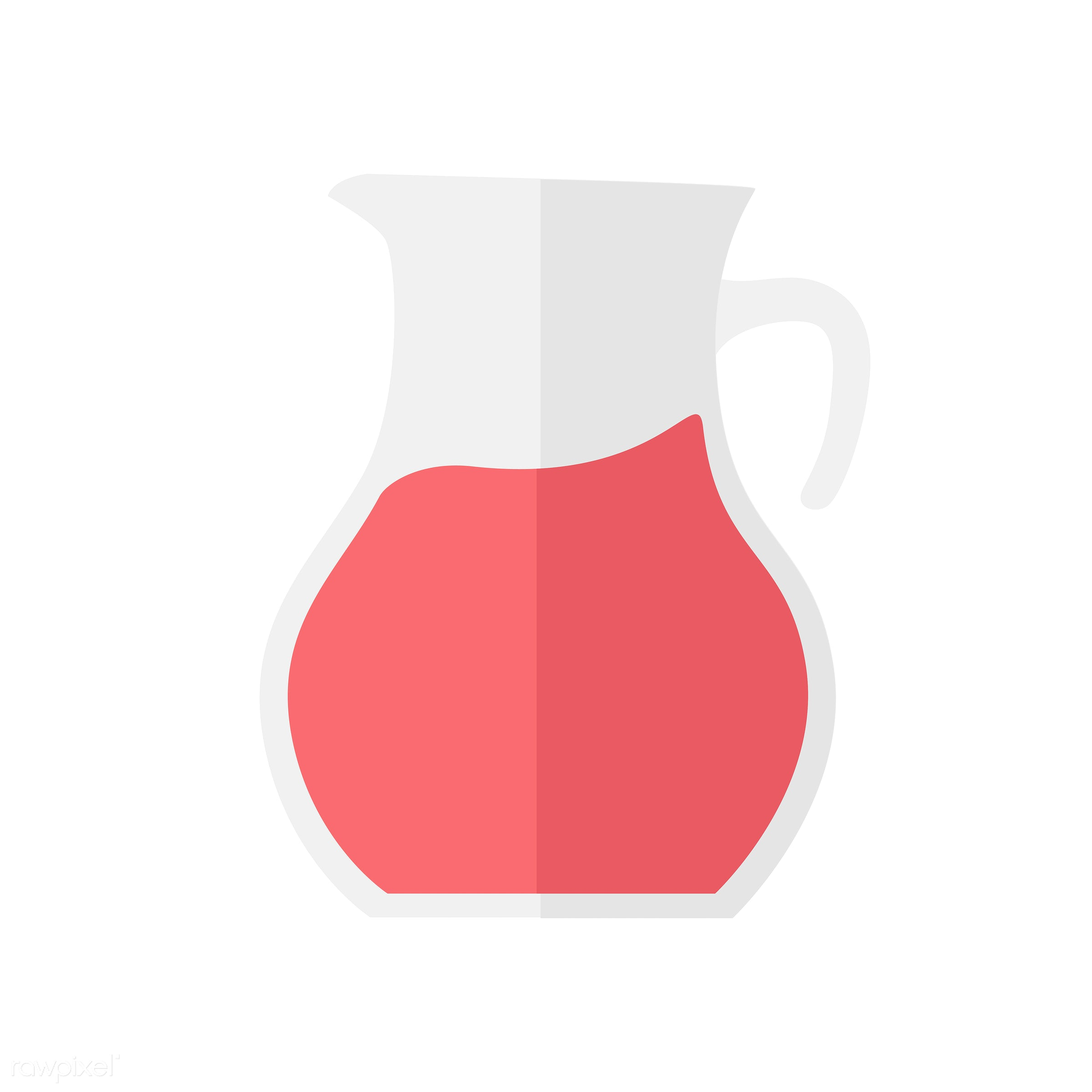 vector, graphic, illustration, icon, symbol, colorful, cute, drink, beverage, water, jug, lemonade, red