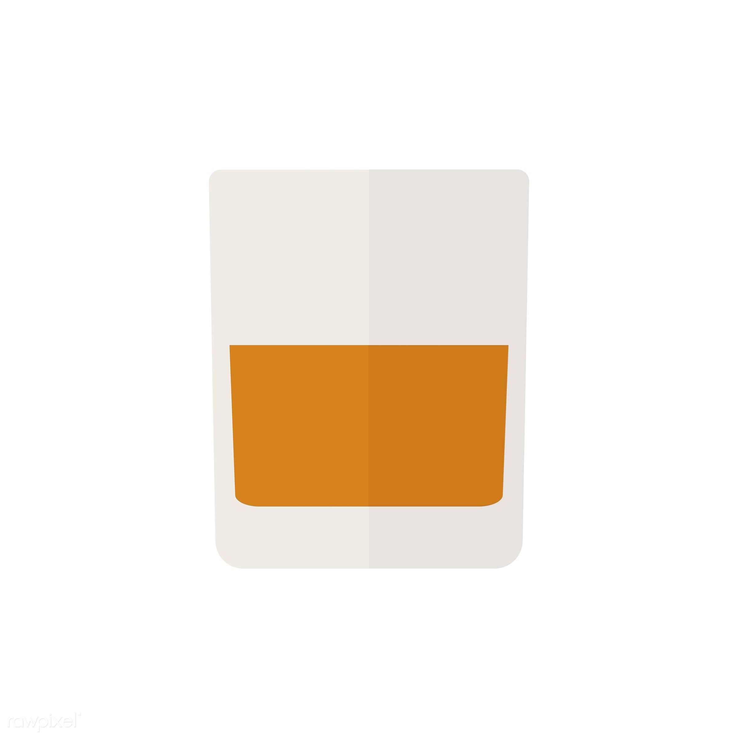 vector, graphic, illustration, icon, symbol, colorful, cute, drink, beverage, water, orange, whiskey, orange juice