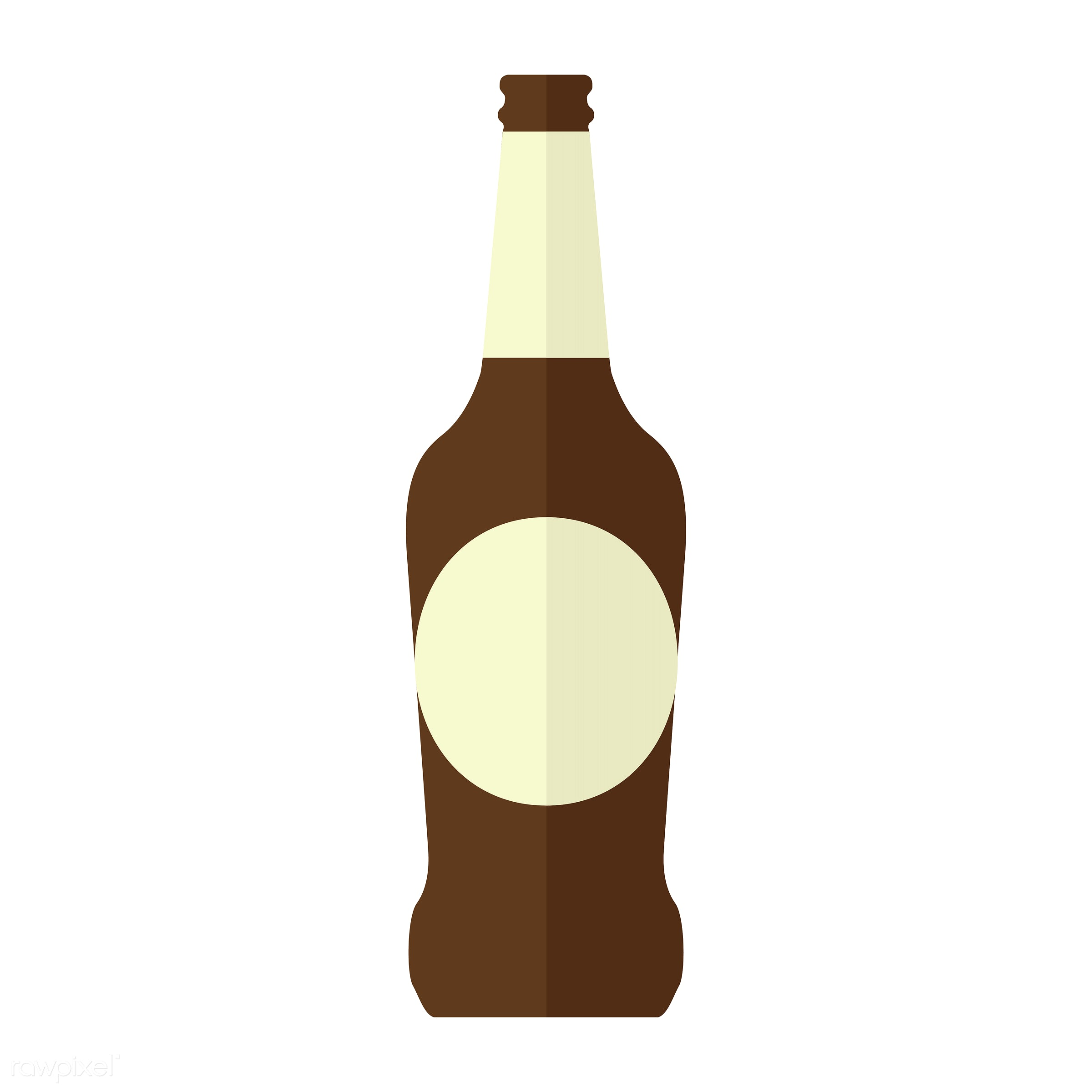 vector, graphic, illustration, icon, symbol, colorful, cute, drink, beverage, water, brown, glass bottle, beer