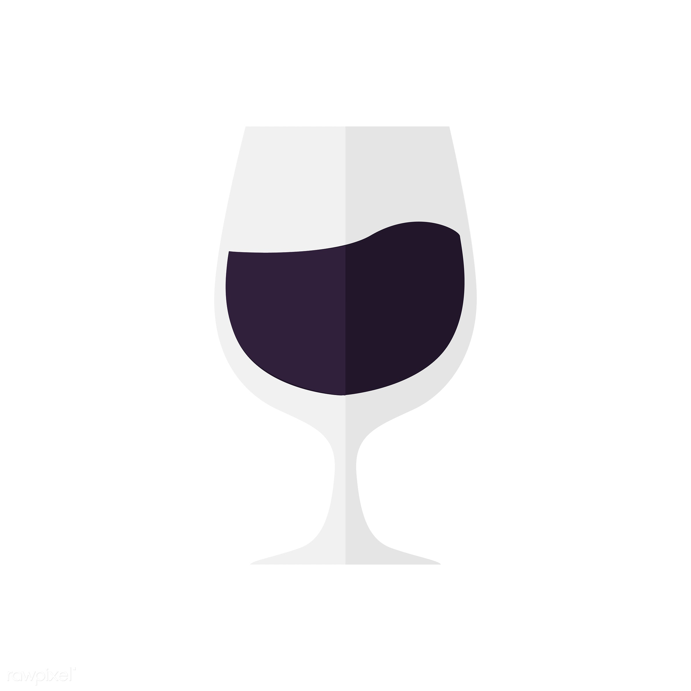 Glass of a dark drink vector - vector, graphic, illustration, icon, symbol, colorful, cute, drink, beverage, water, red wine...