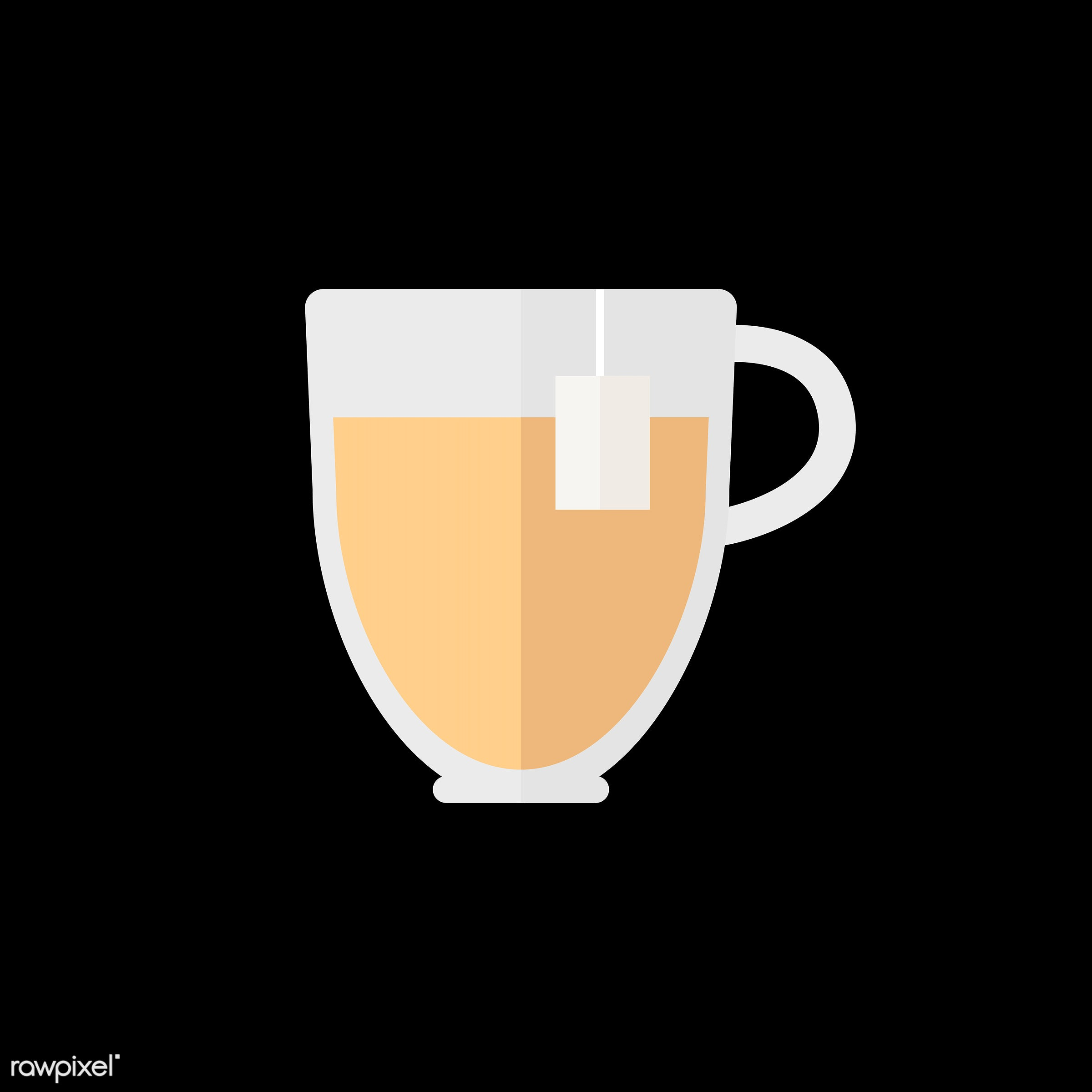 vector, graphic, illustration, icon, symbol, colorful, cute, mug, tea, tea cup, hot drink, drink, beverage, water, tea bag
