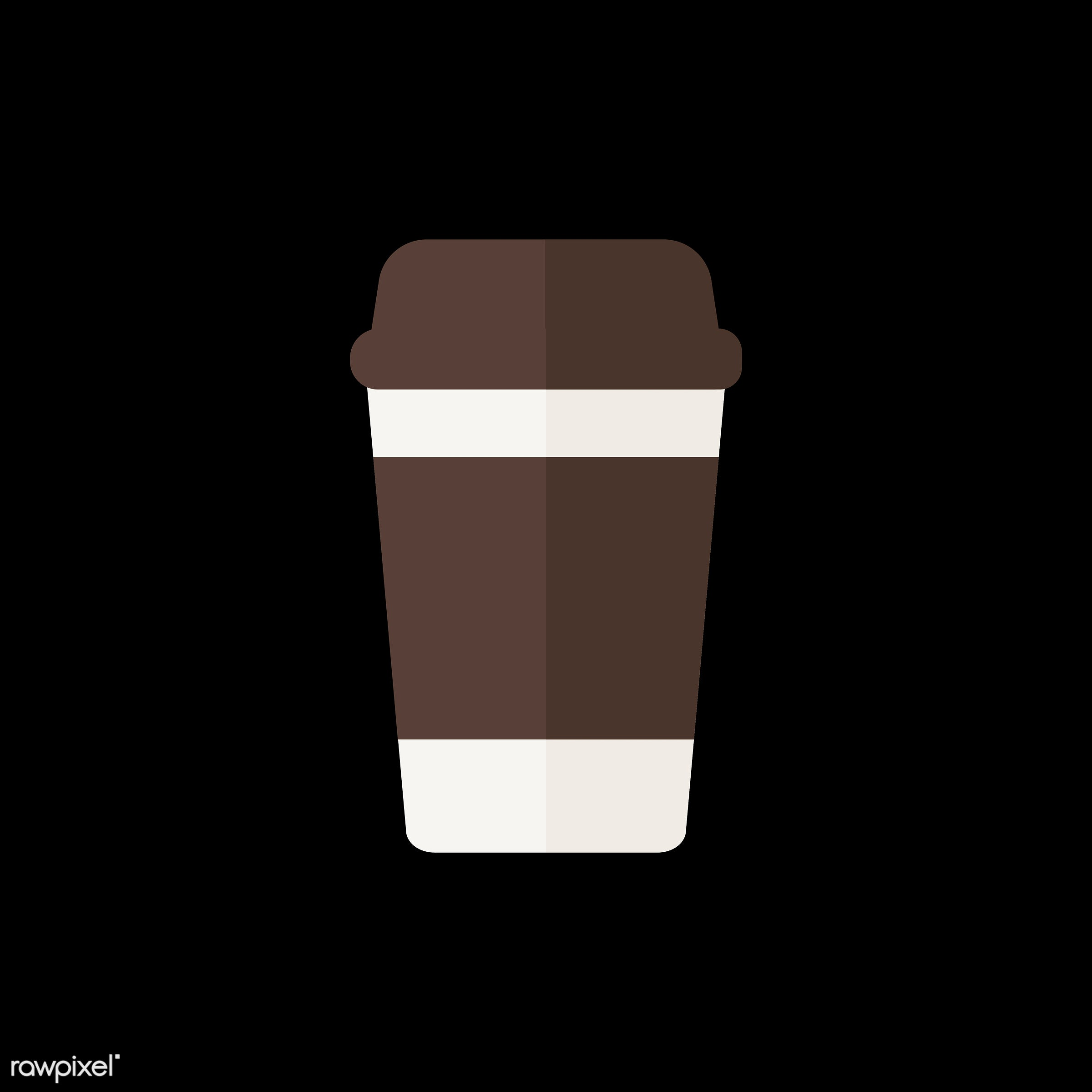 vector, graphic, illustration, icon, symbol, colorful, cute, drink, beverage, water, hot drink, coffee, coffee cup, coffee...