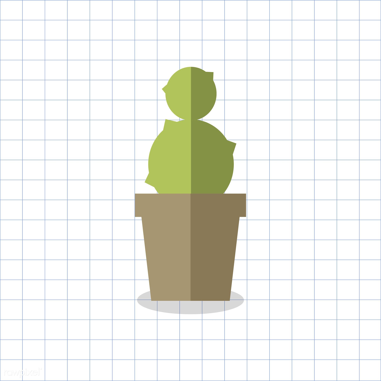 vector, graphic, illustration, icon, symbol, colorful, cute, plant, tree, nature, cactus, cacti, planted, pot