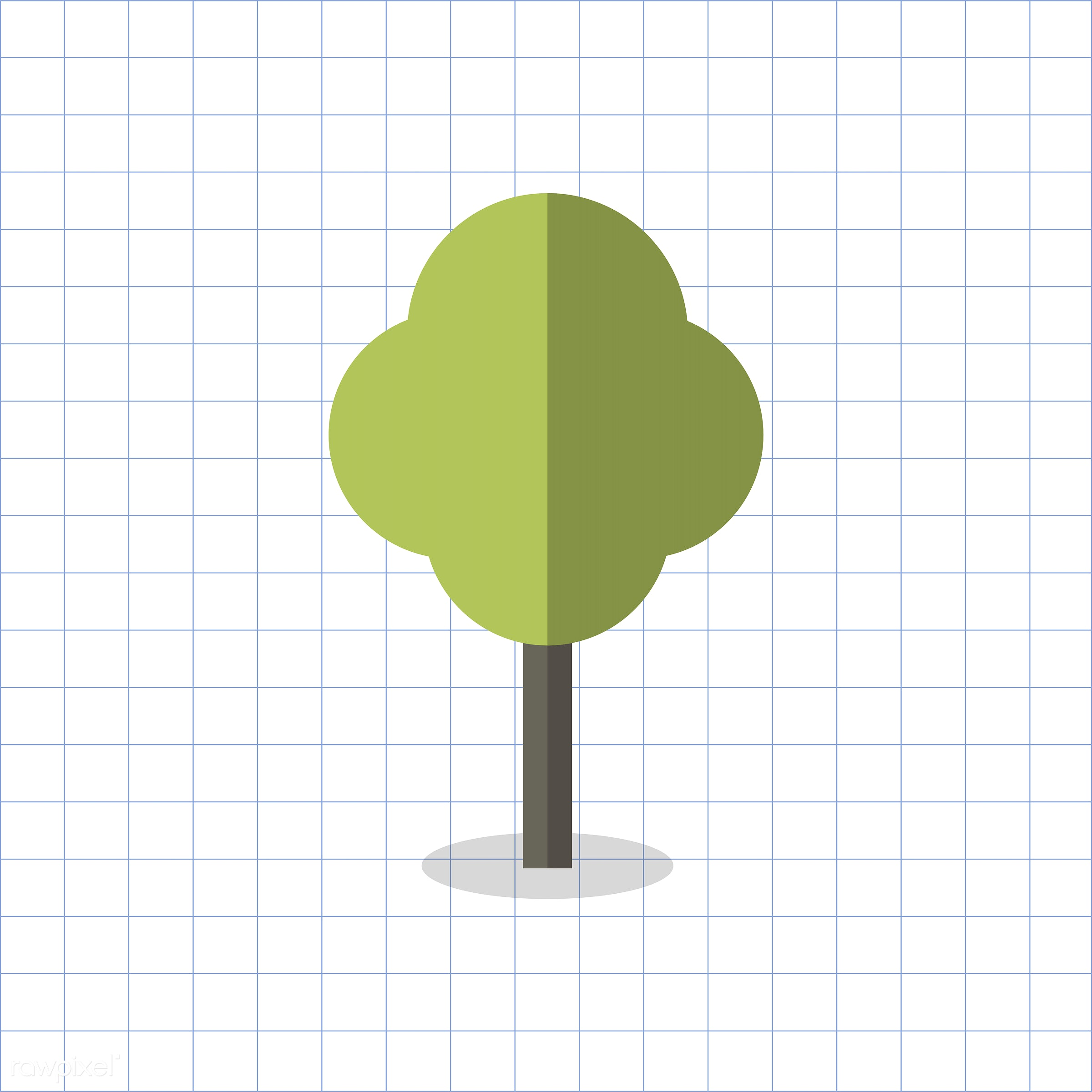 vector, graphic, illustration, icon, symbol, colorful, cute, plant, tree, nature