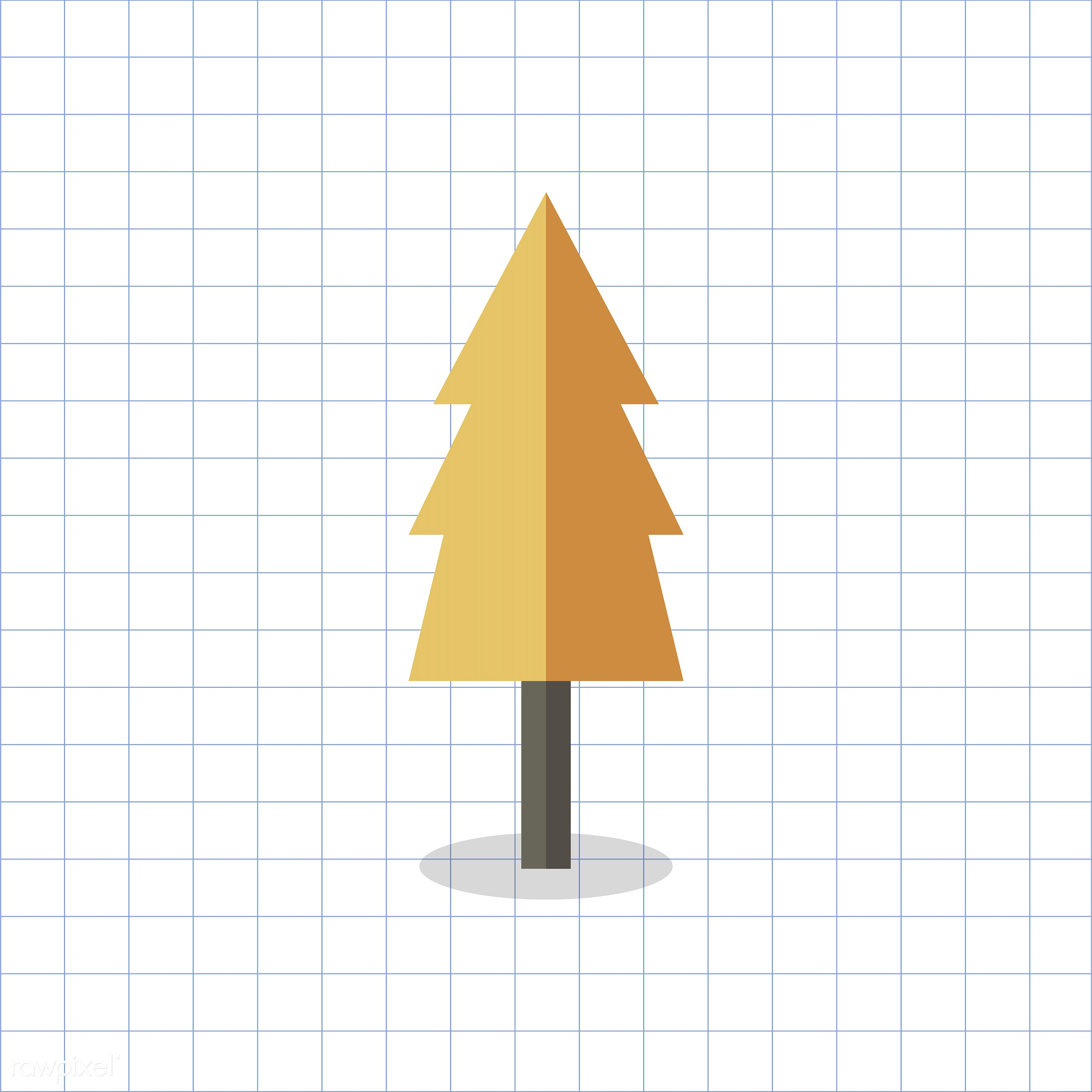 vector, graphic, illustration, icon, symbol, colorful, cute, plant, tree, nature, fall, autumn, orange