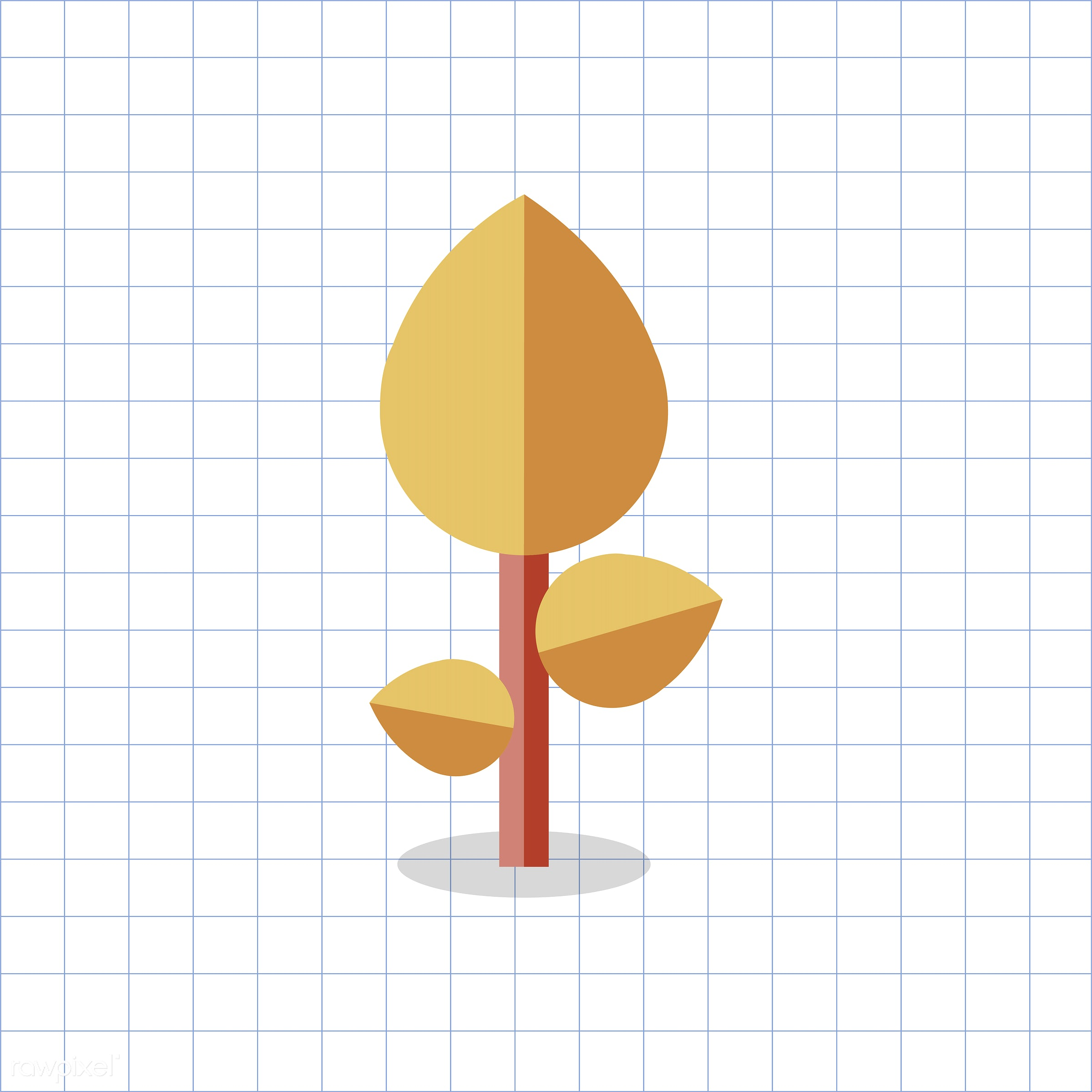 vector, graphic, illustration, icon, symbol, colorful, cute, plant, tree, nature, orange