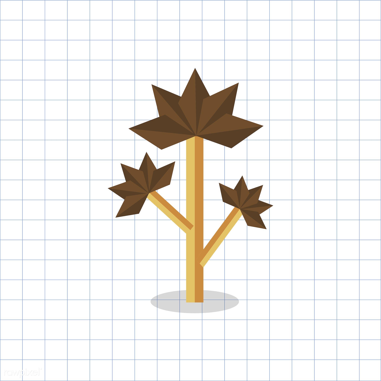 vector, graphic, illustration, icon, symbol, colorful, cute, plant, tree, nature