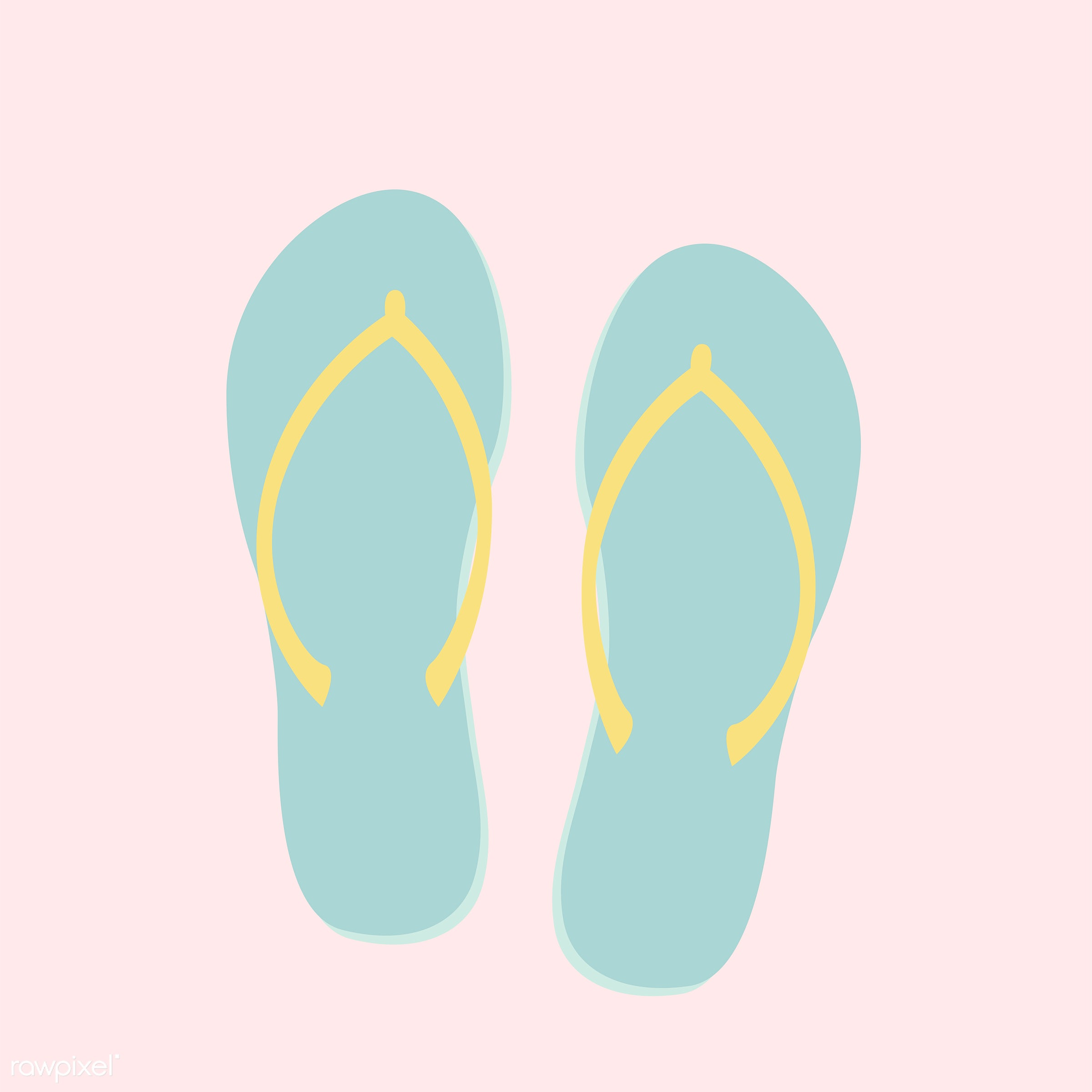 vector, illustration, graphic, cute, sweet, girly, pastel, flipflops, beach, slippers, isolated, summer