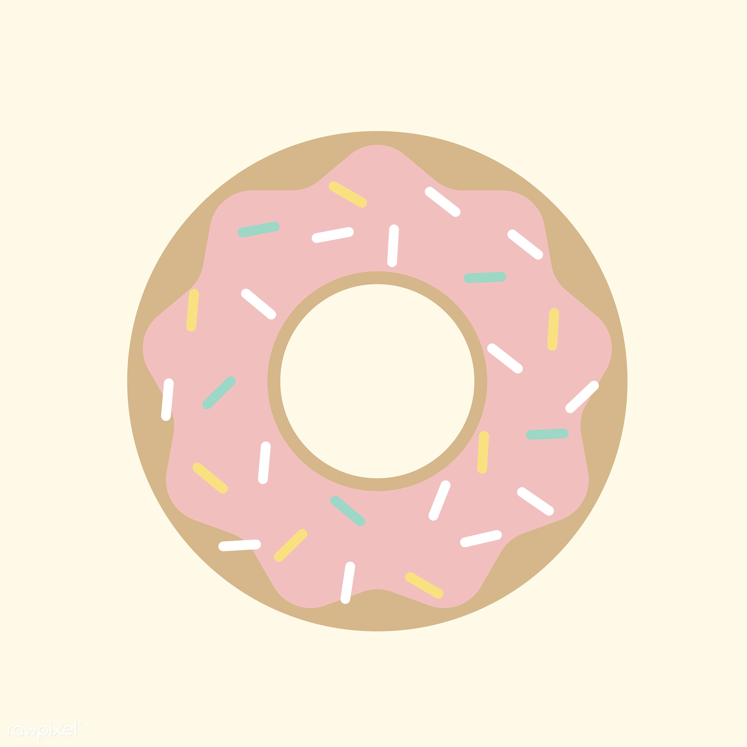 vector, illustration, graphic, cute, sweet, girly, pastel, donut, doughnut, pastry