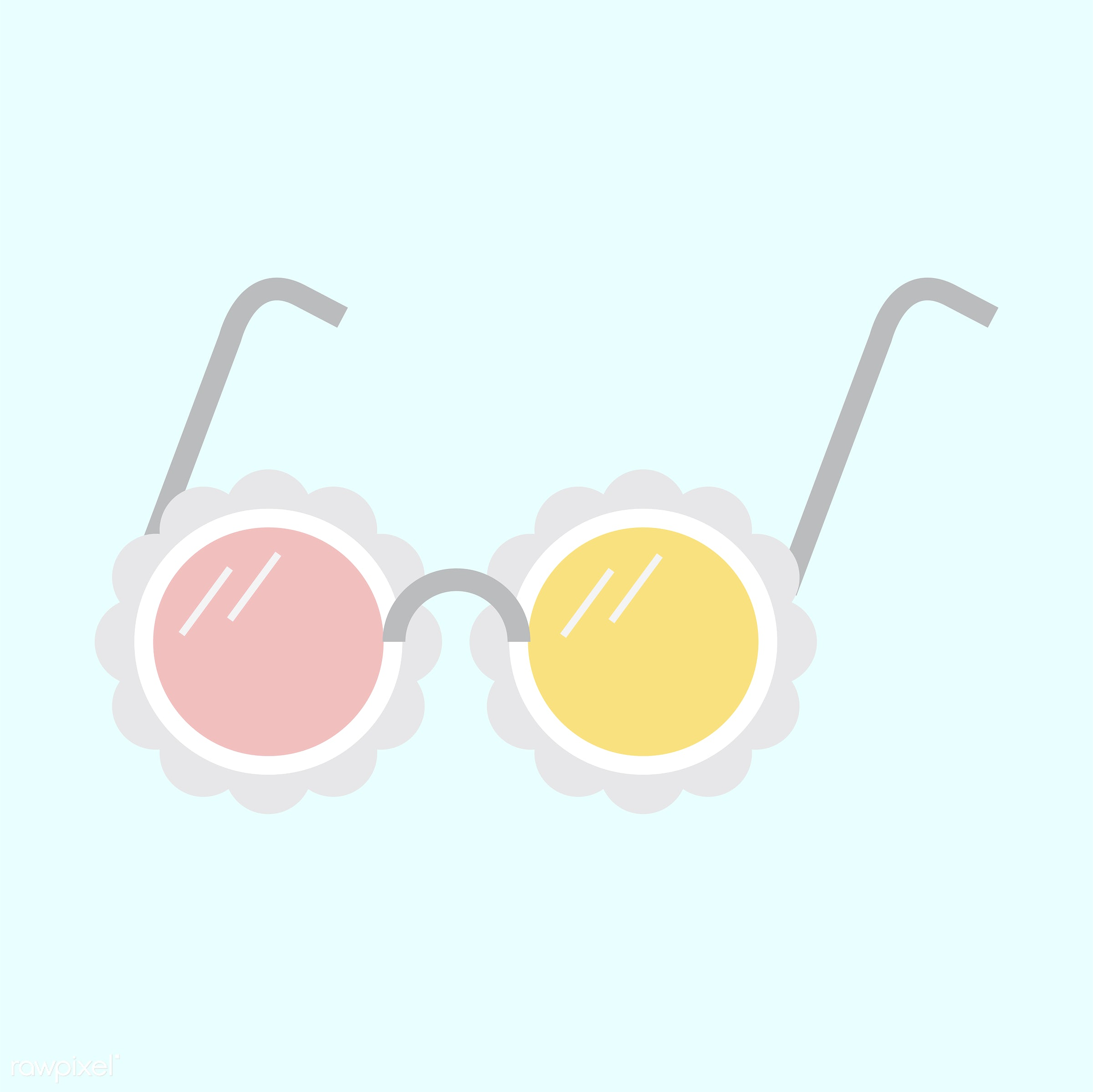 vector, illustration, graphic, cute, sweet, girly, pastel, sunglasses, isolated, summer
