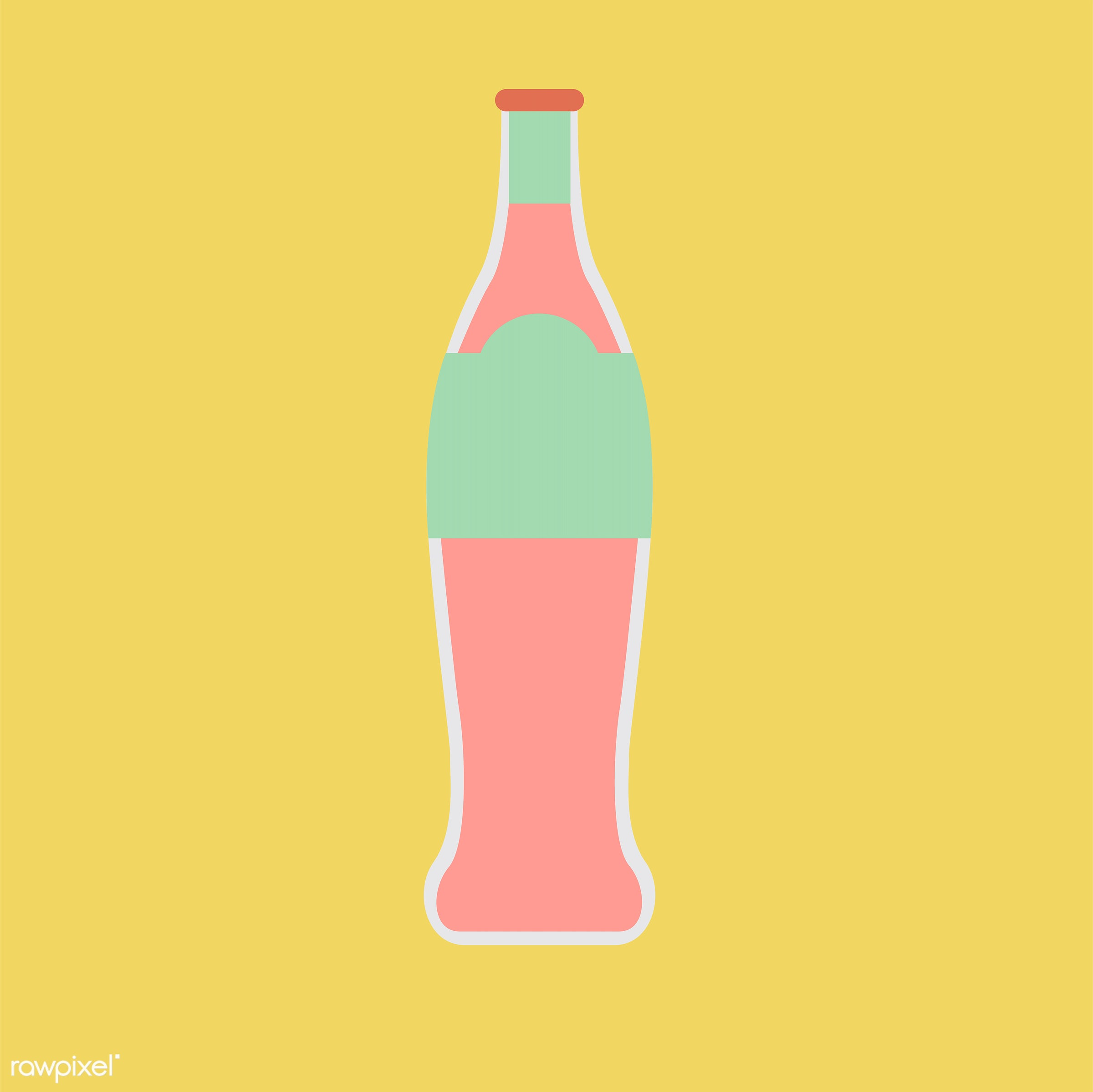 vector, illustration, graphic, cute, sweet, girly, pastel, soda, bottle, drink