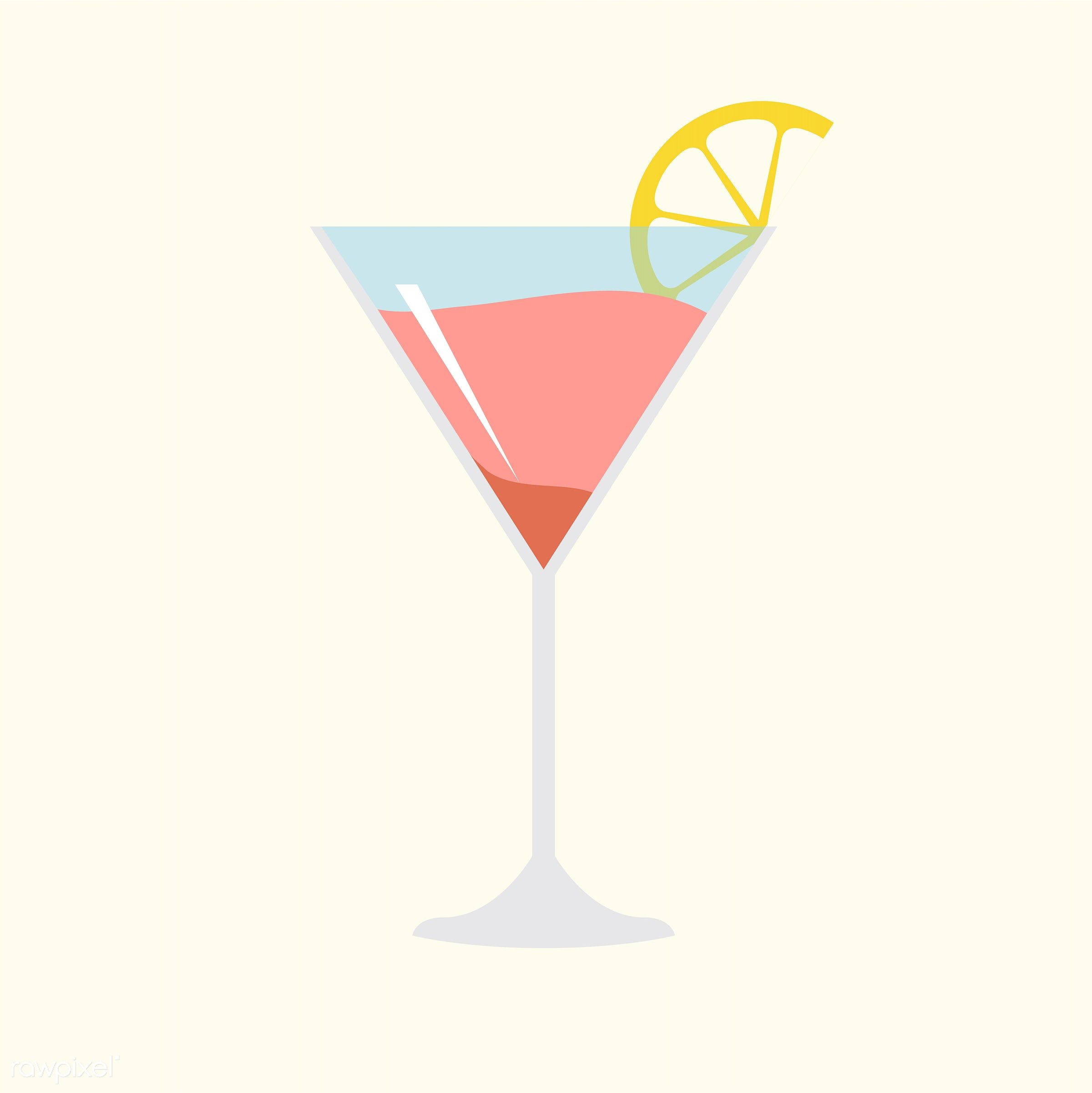 vector, illustration, graphic, cute, sweet, girly, pastel, cocktail, drink, alcohol