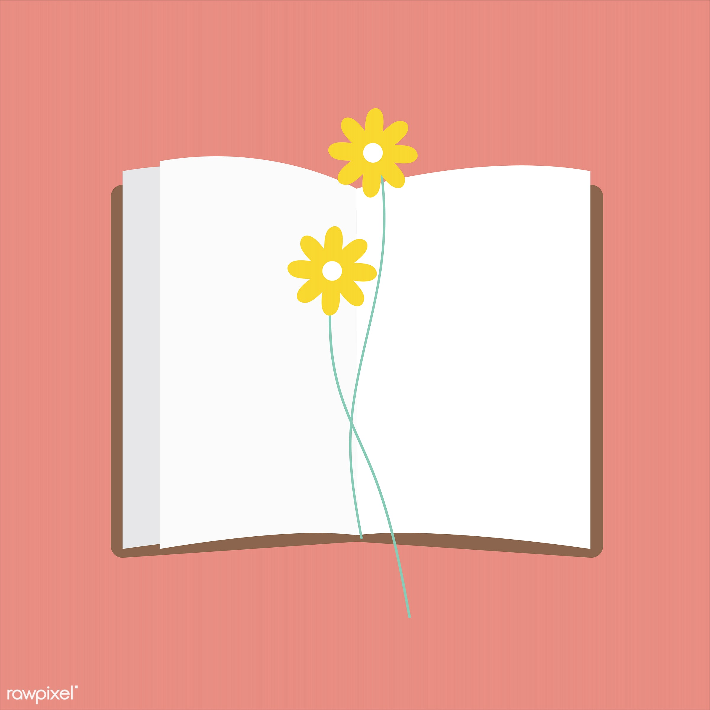 blank, blank space, bookmark, cute, design space, diary, flower, girly, graphic, illustration, journal, memory, minimal,...