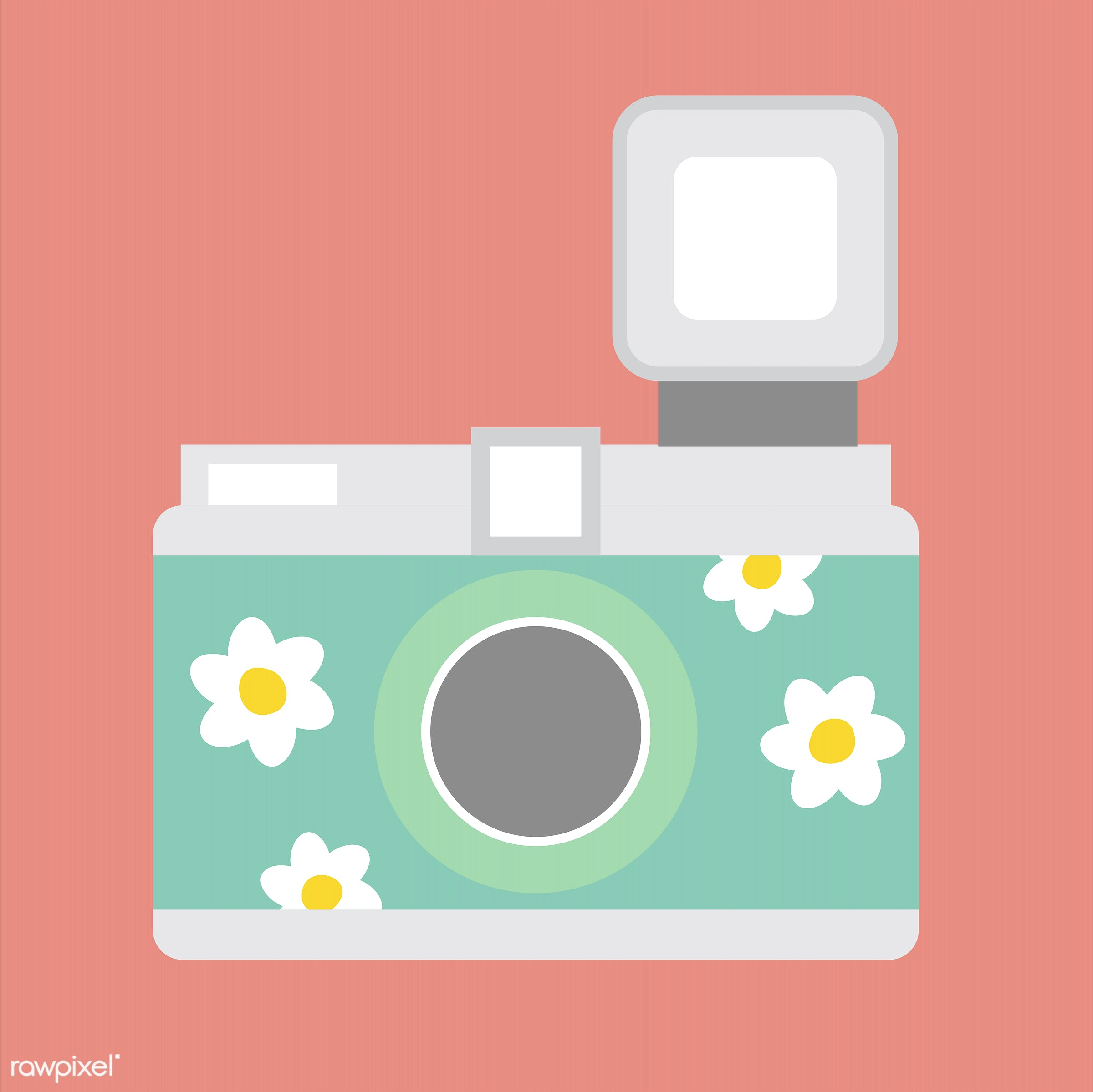 vector, illustration, graphic, cute, sweet, girly, pastel, camera, analog, isolated, photograph, photography
