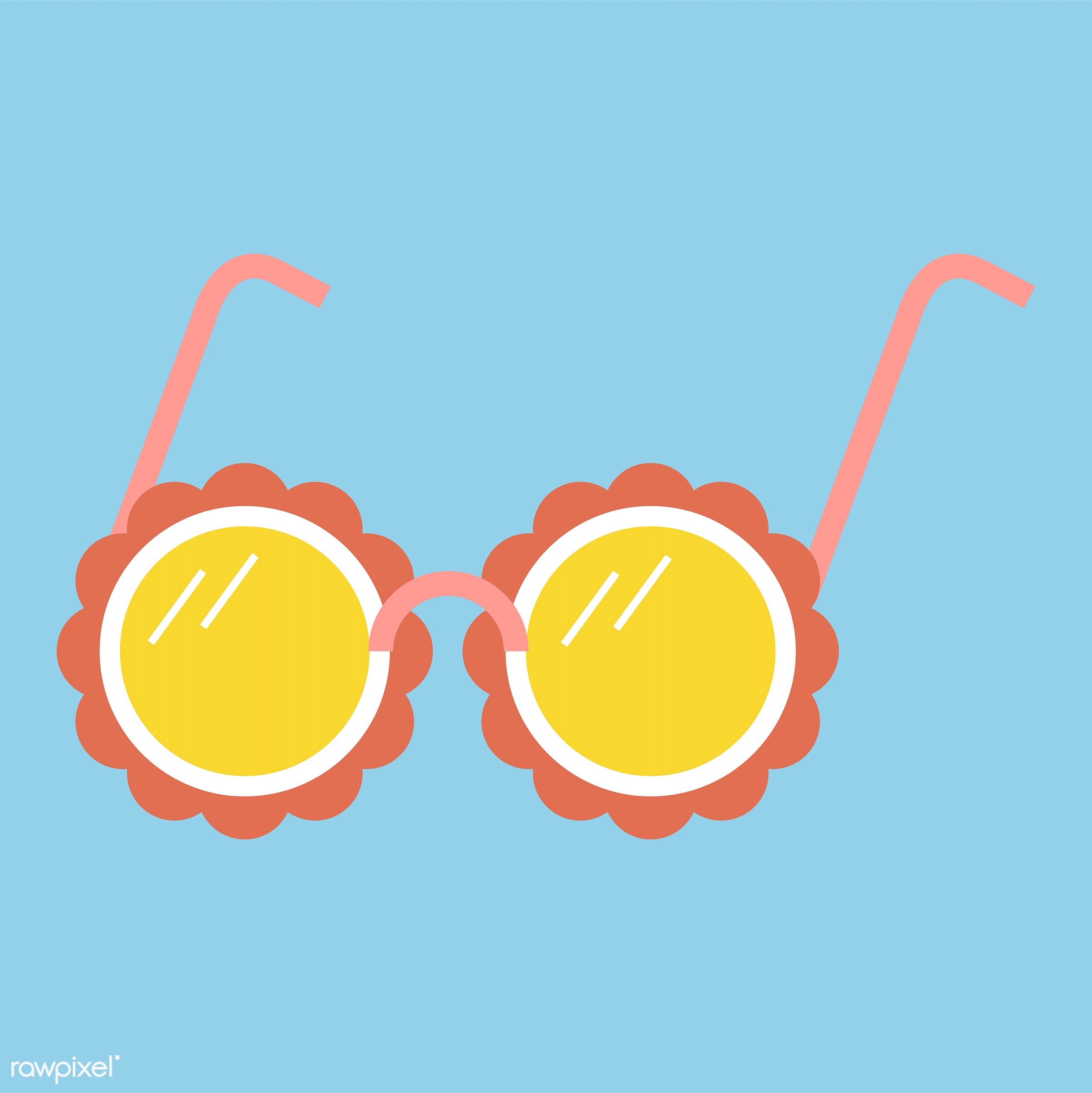 vector, illustration, graphic, cute, sweet, girly, pastel, sunglasses, isolated, summer, vector'