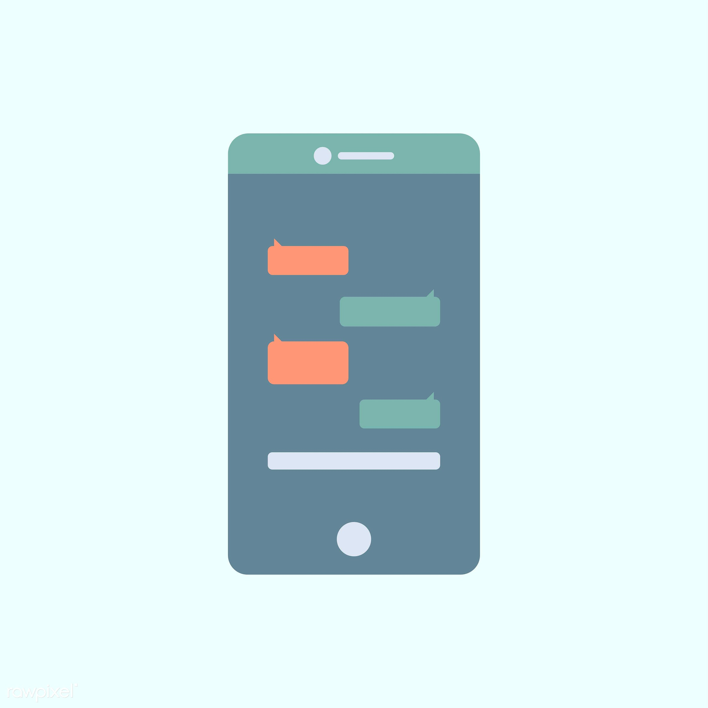 vector, illustration, graphic, blue, tech, technology, digital, device, internet, phone, wireless