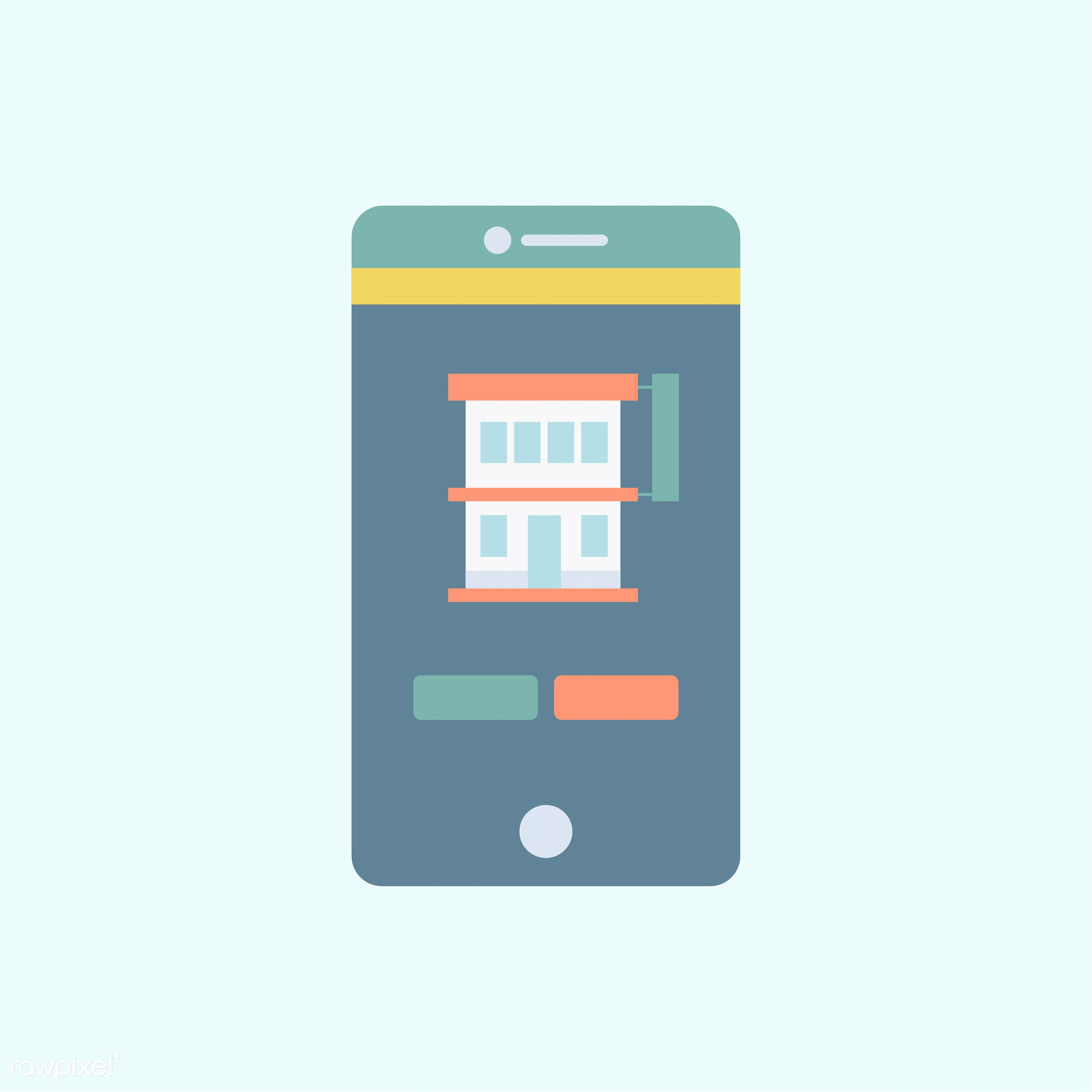 vector, illustration, graphic, blue, tech, technology, smartphone, mobile, app, connection, wireless