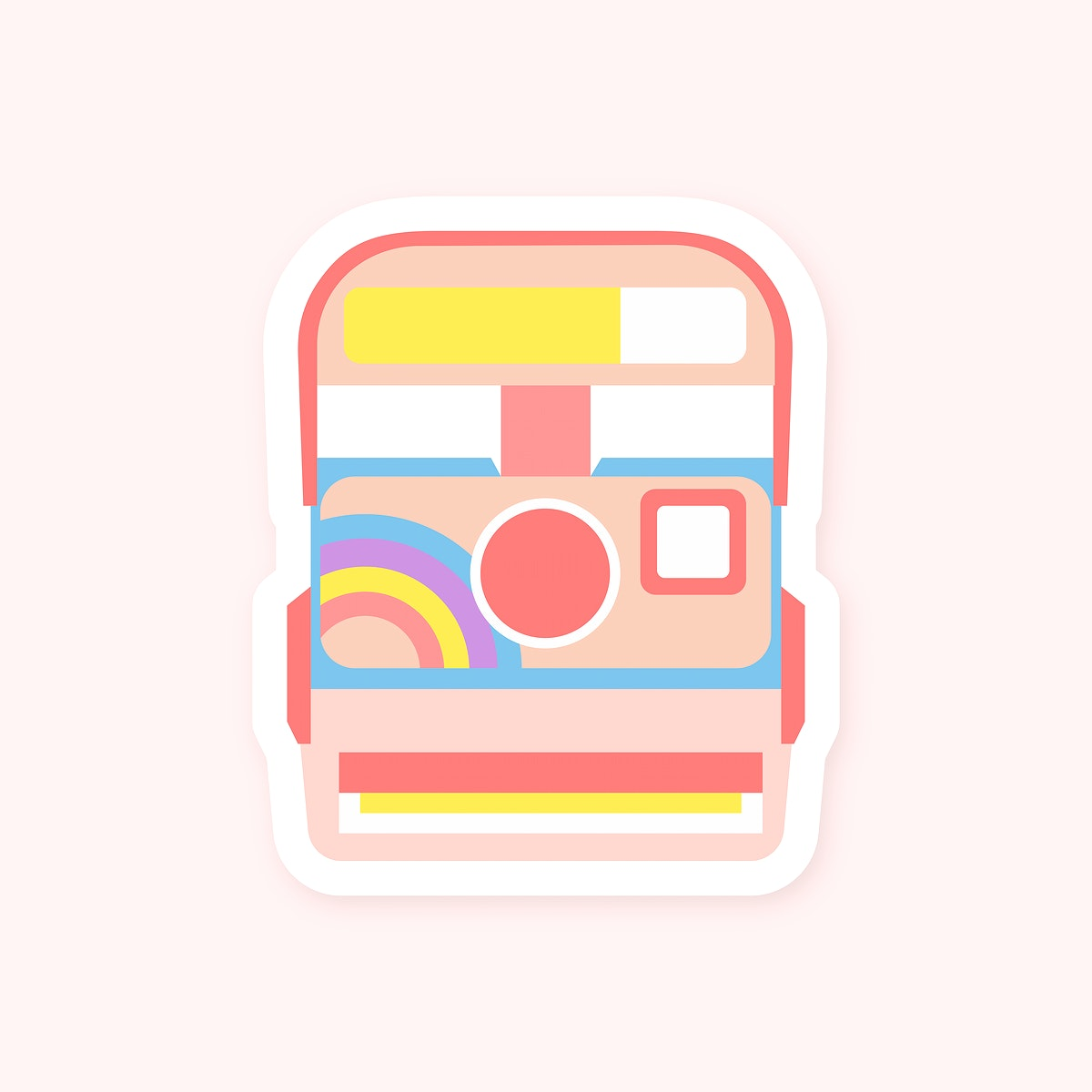 Colorful Polaroid camera sticker