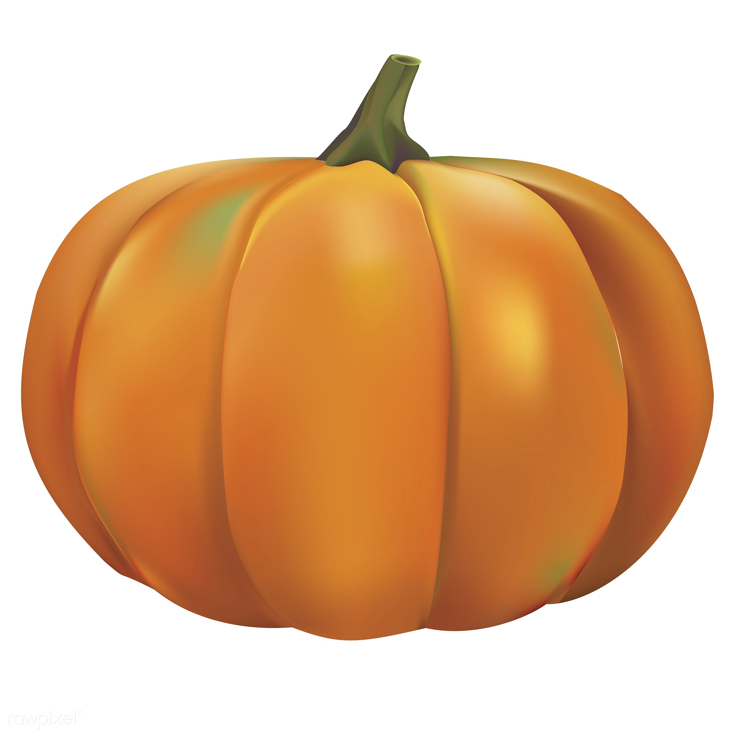 Illustration of pumpkin isolated on white background - autumn, celebration, crops, elements, fall, festival, graphic,...