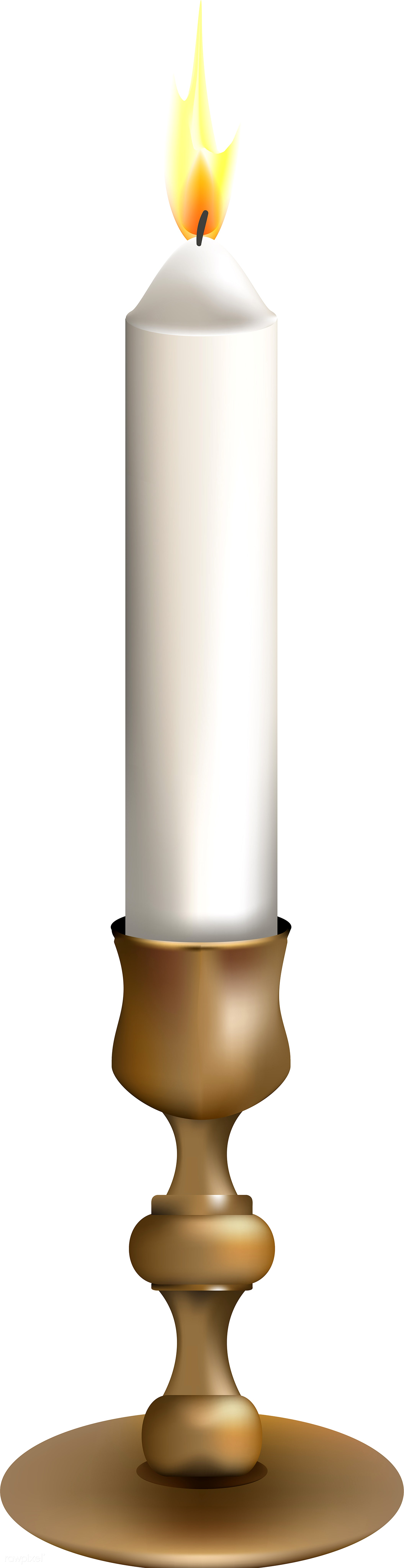 Illustration of candle isolated on white background - autumn, bright, candle, celebration, crops, decoration, elements, fall...