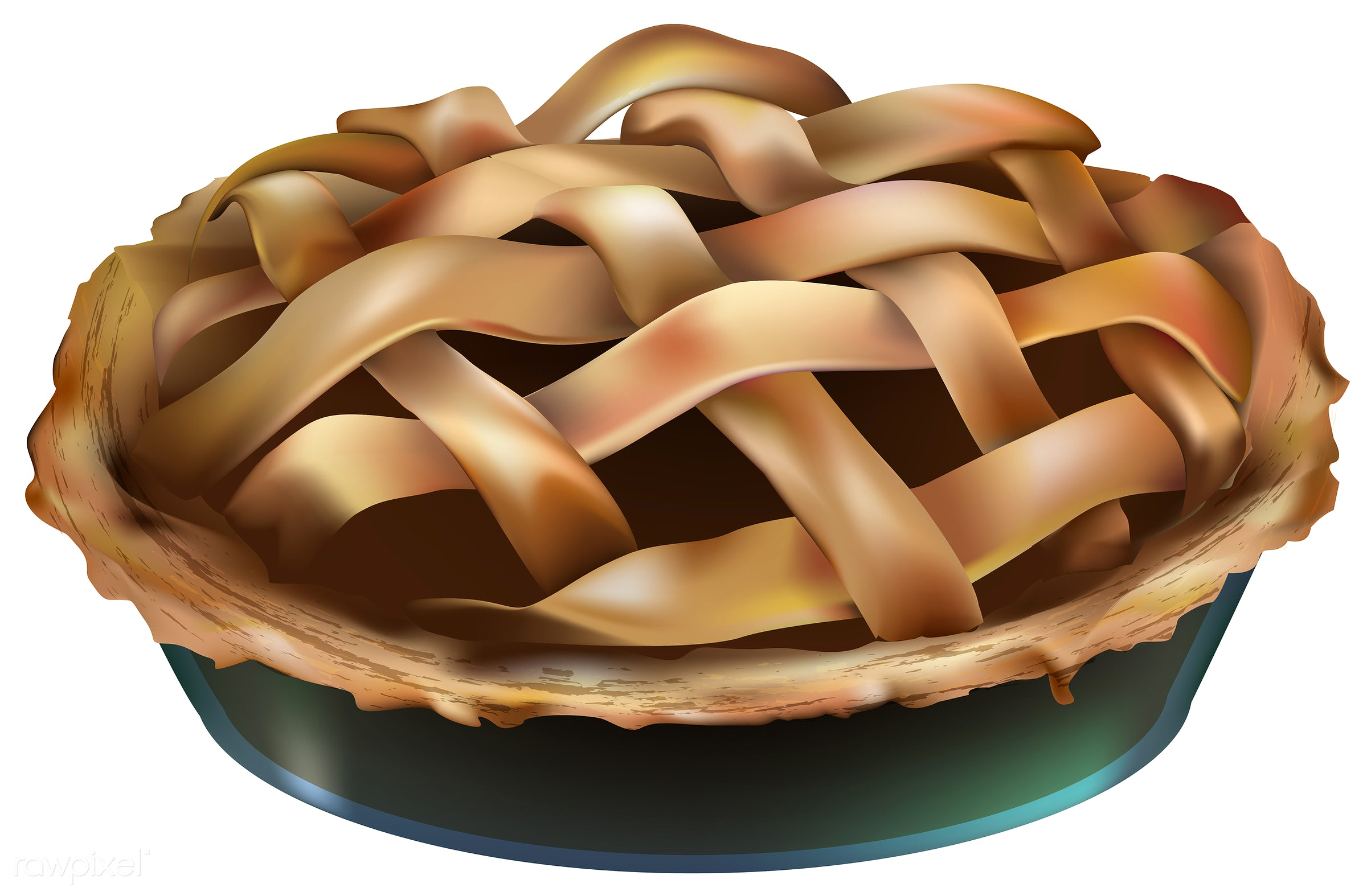 Illustration of pie isolated on white background - illustration, pie, autumn, celebration, crops, dessert, elements, fall,...