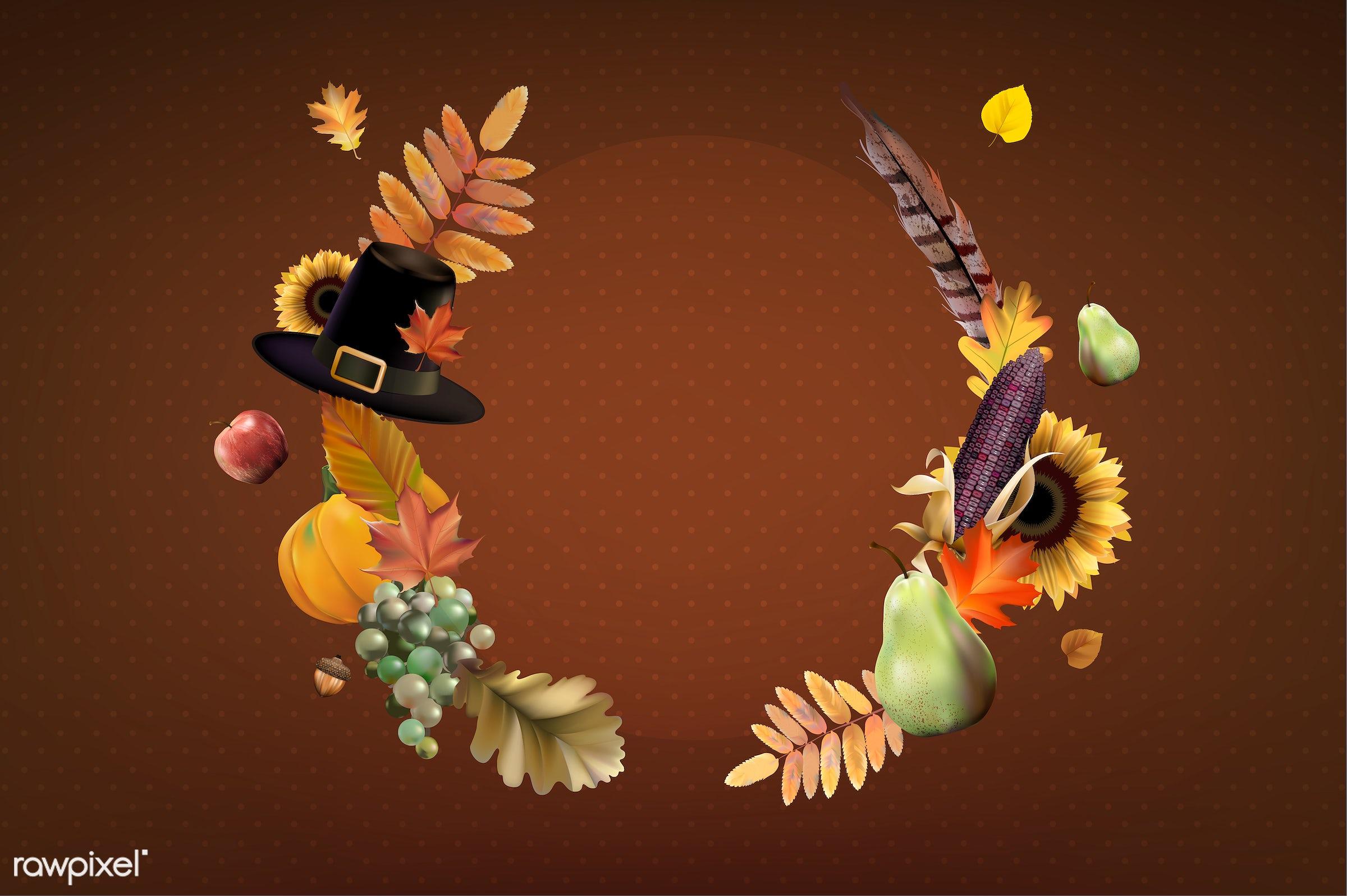 Illustration of thanksgiving festival - fall, autumn, background, banner, celebration, copy space, crops, decoration, design...