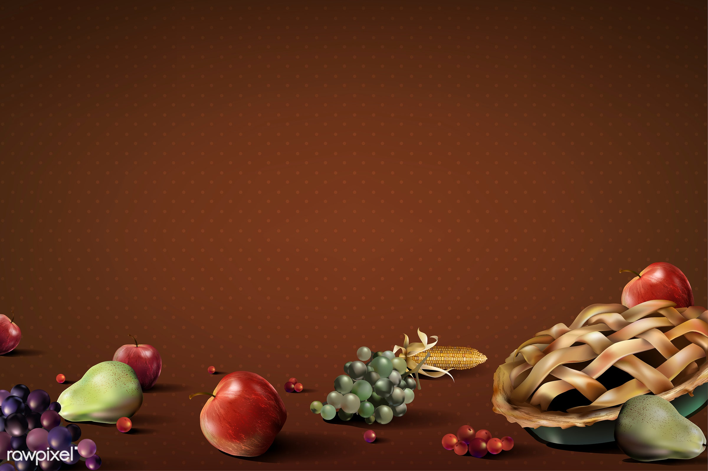 Illustration of thanksgiving festival - isolated, autumn, background, celebration, copy space, crops, design space, elements...