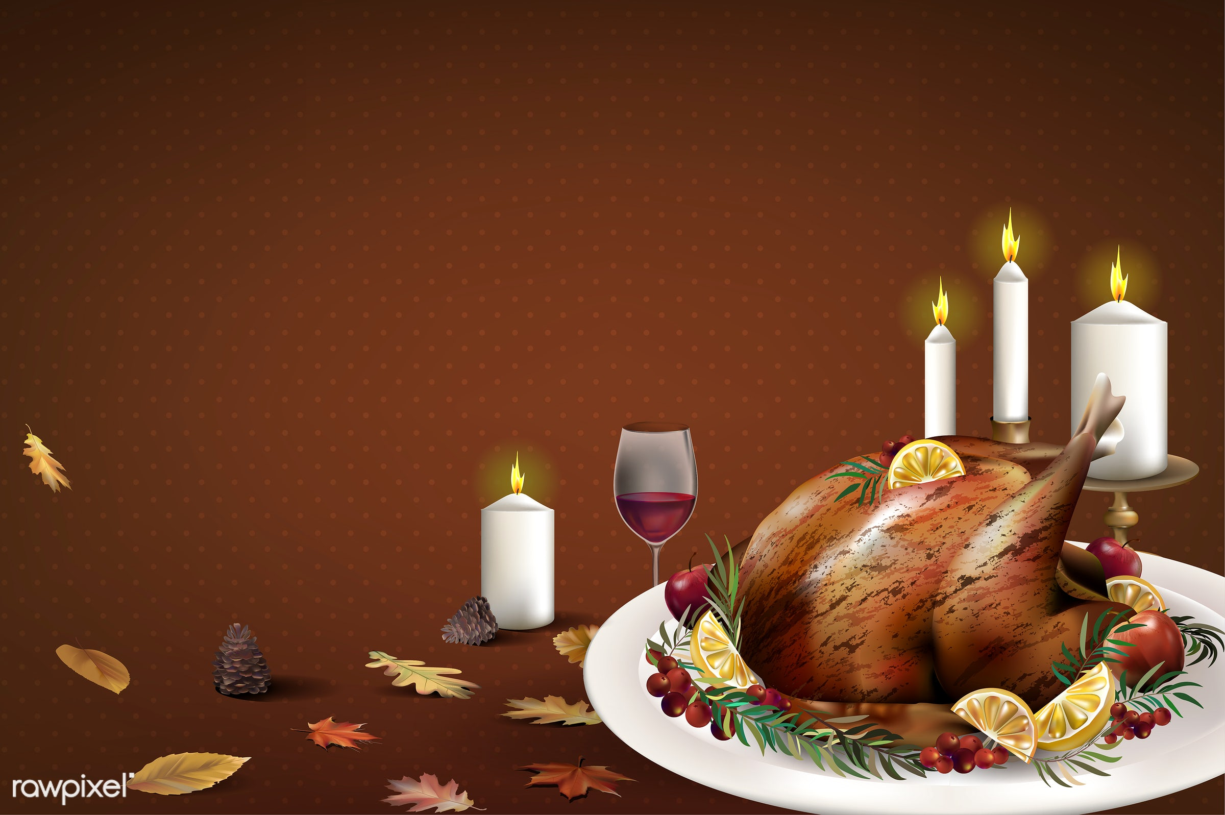 Illustration of wine glass isolated on white background - food, autumn, candles, celebration, decoration, dinner, elements,...