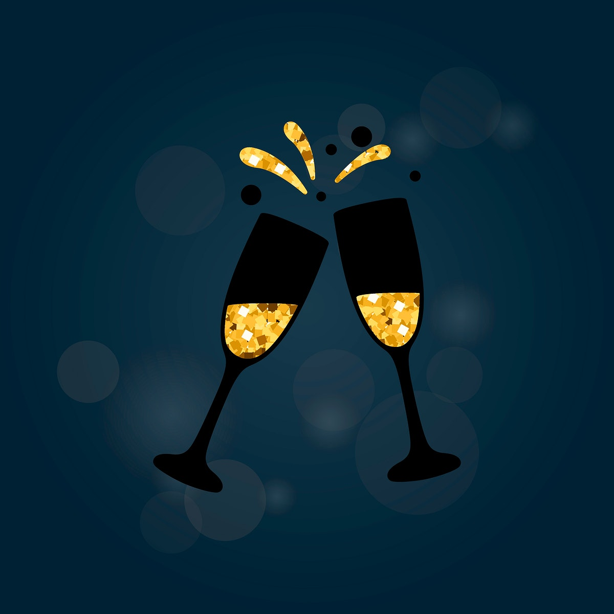 Illustration of a champagne toast
