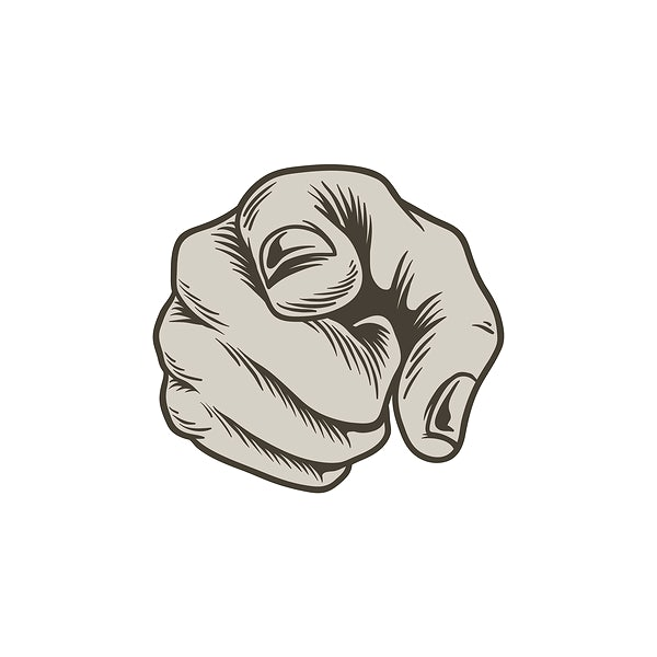 illustration of pointing hand icon royalty free vector 296619 rawpixel