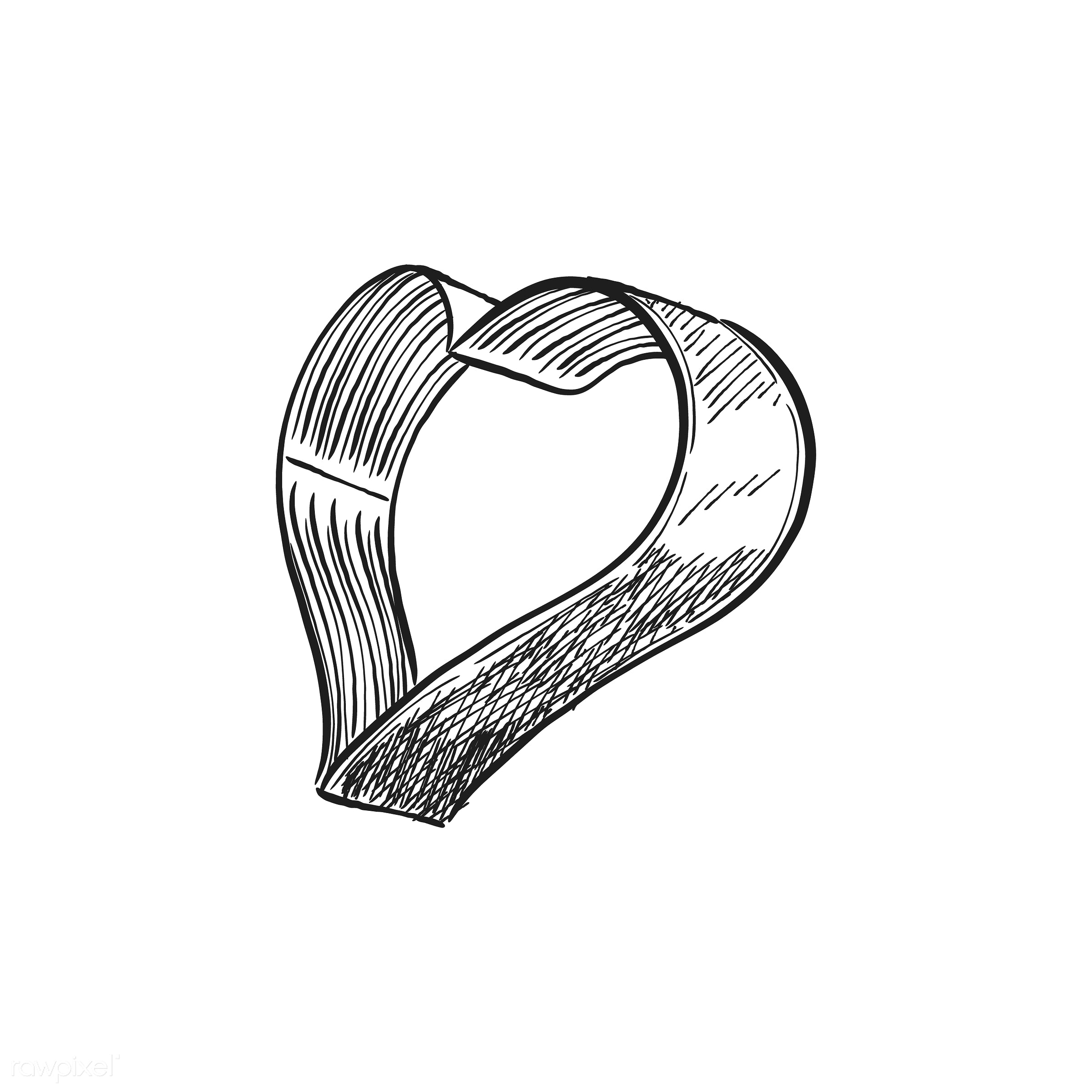 Vintage illustration of a heart shaped cookie cutter - antique, bake, bakery, black, design, drawing, equipment, graphic,...