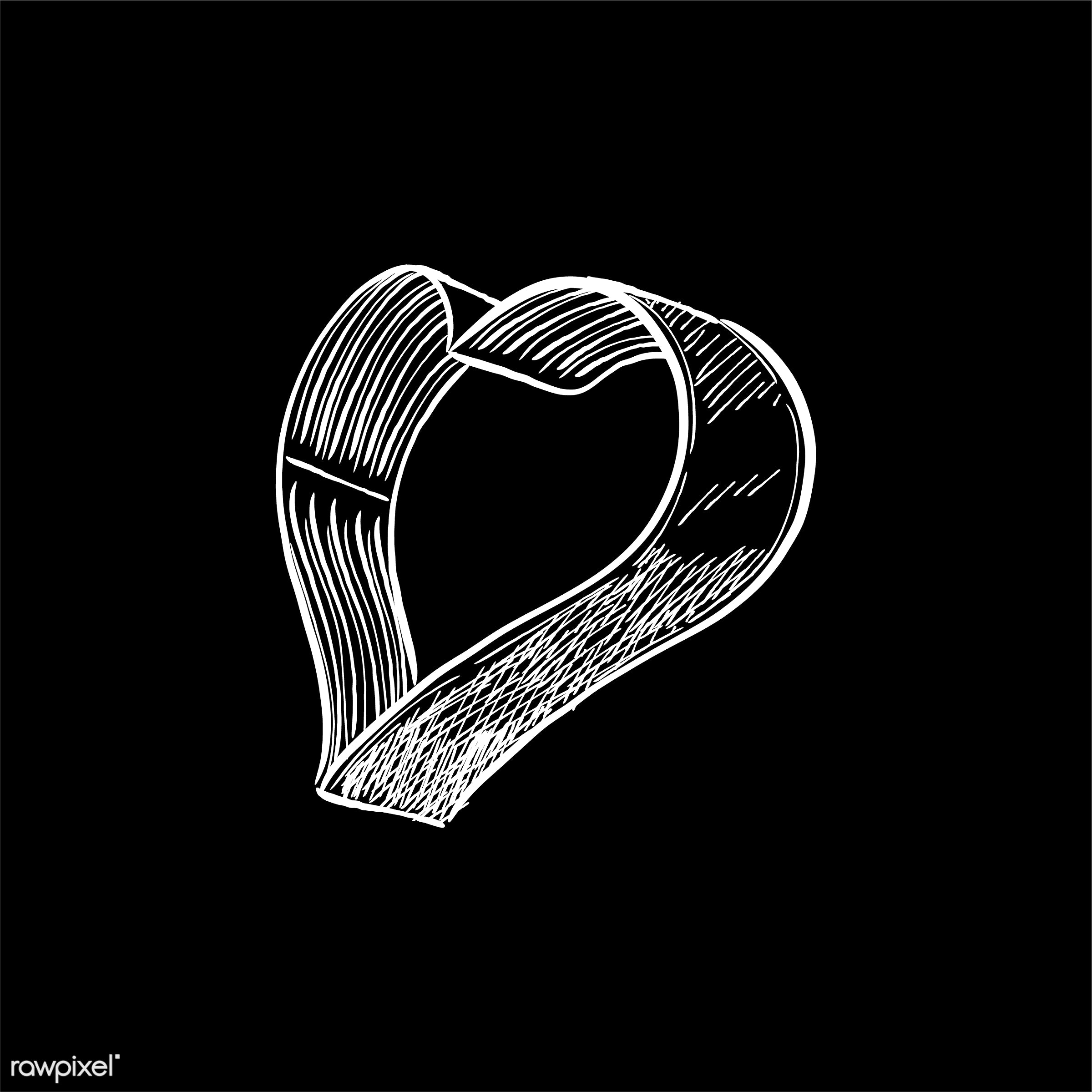 Vintage illustration of a heart shaped cookie cutter - antique, bake, bakery, black, cutter, design, drawing, equipment,...