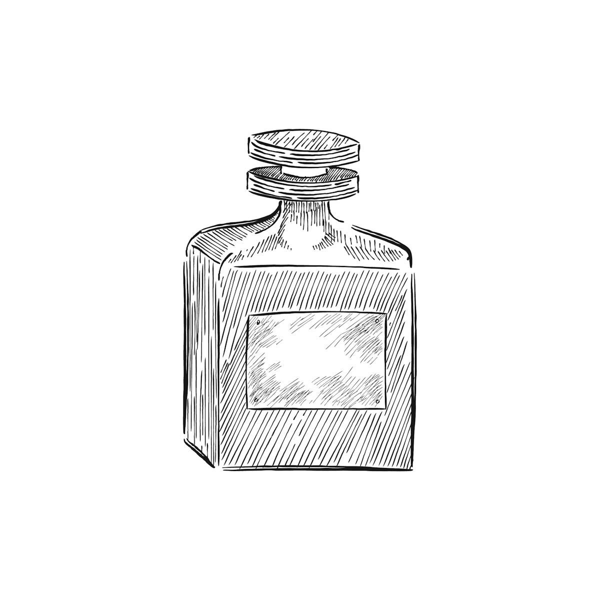 Vintage illustration of a parfume bottle