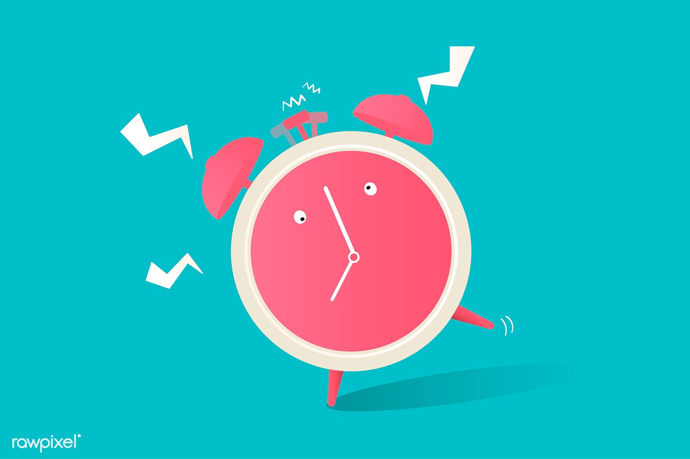 Illustration of clock icon on blue background