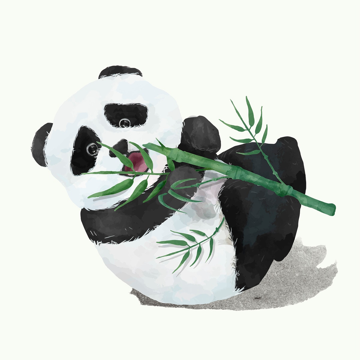 Illustration of a baby panda