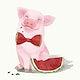 Illustration of a piglet