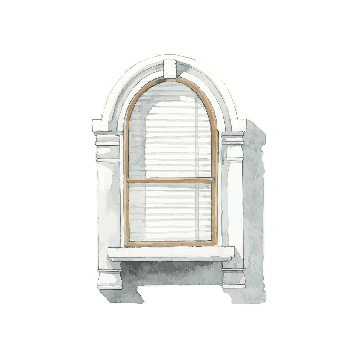 Illustration of window water color style