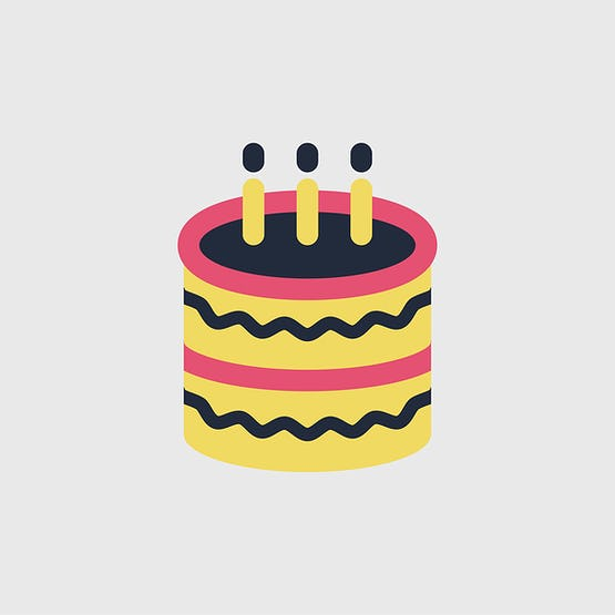 Illustration Of Birthday Cake Icon Id 381023