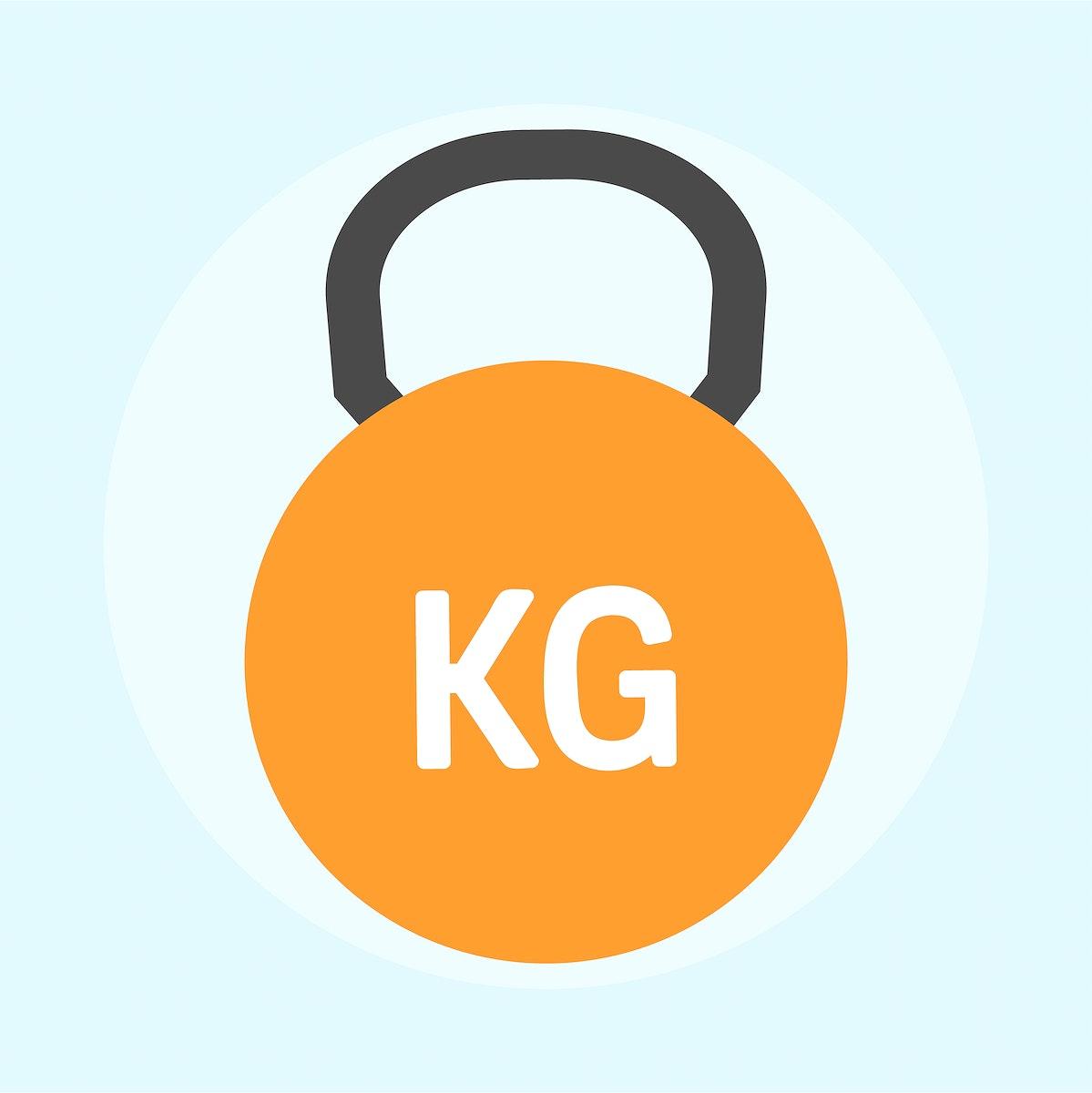 Illustration of a kettlebell