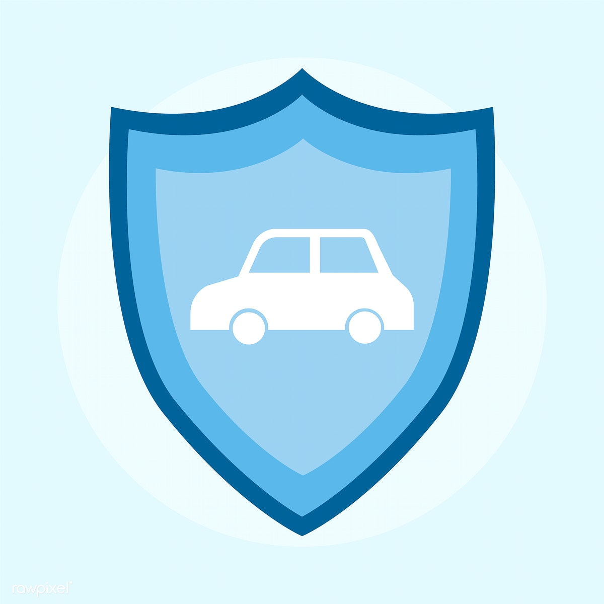 Illustration Of A Car Insurance Icon Royalty Free Stock Vector