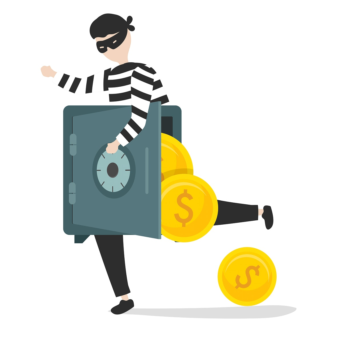 Illustration of a thief character