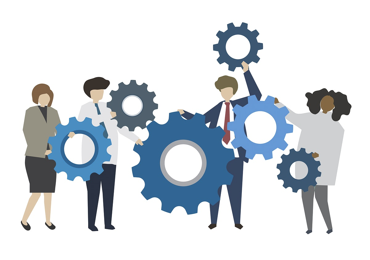 Business people and teamwork concept illustration