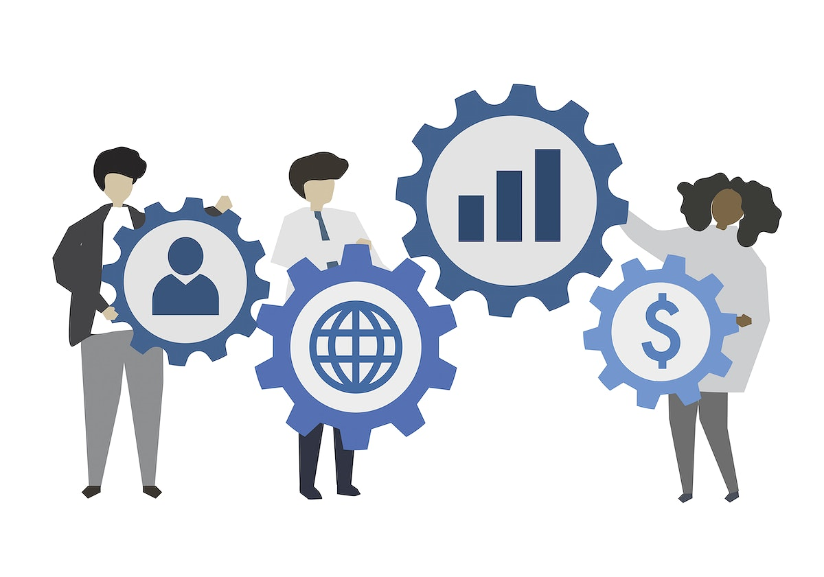 Business people and social network concept illustration