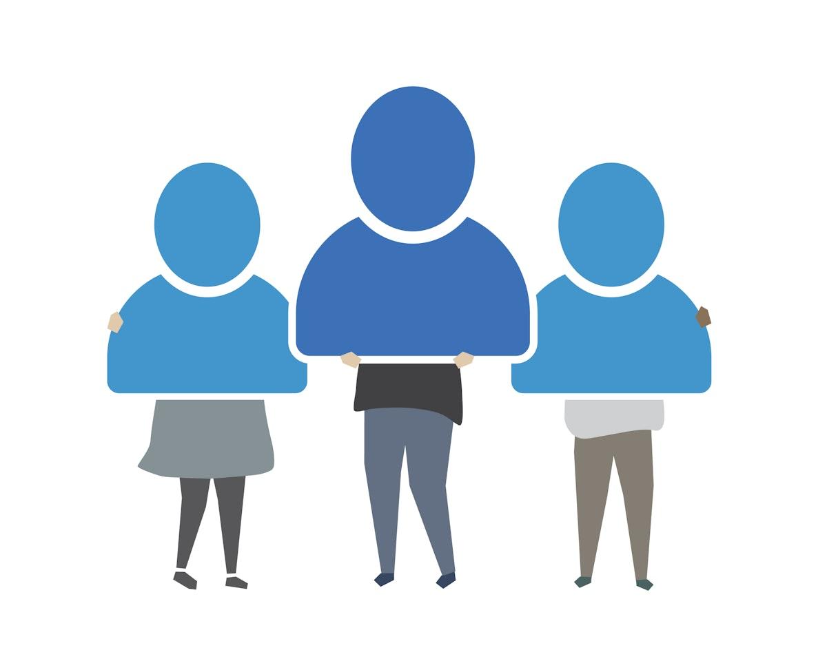 People online profile icons illustration