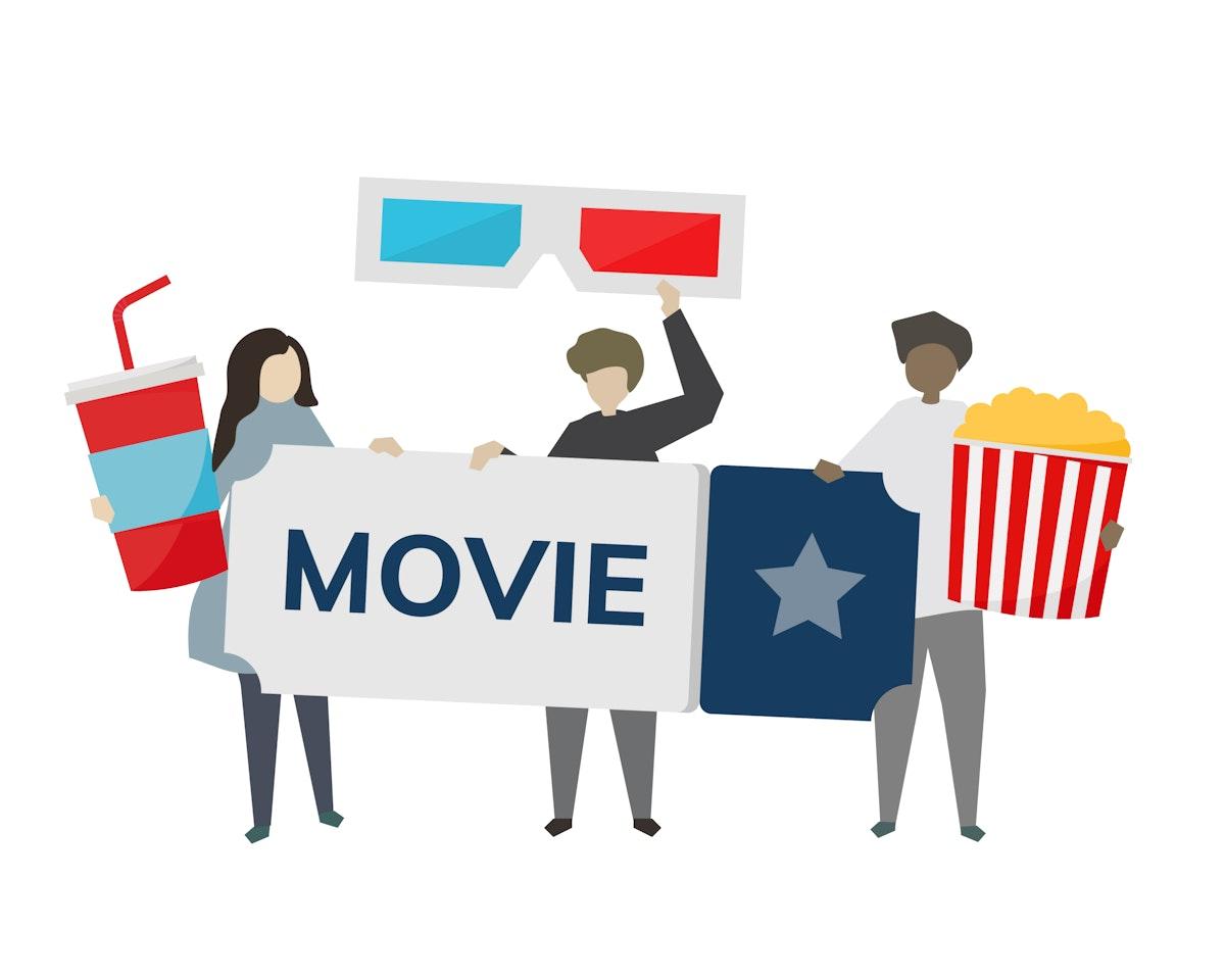 Movie entertainment concept illustration